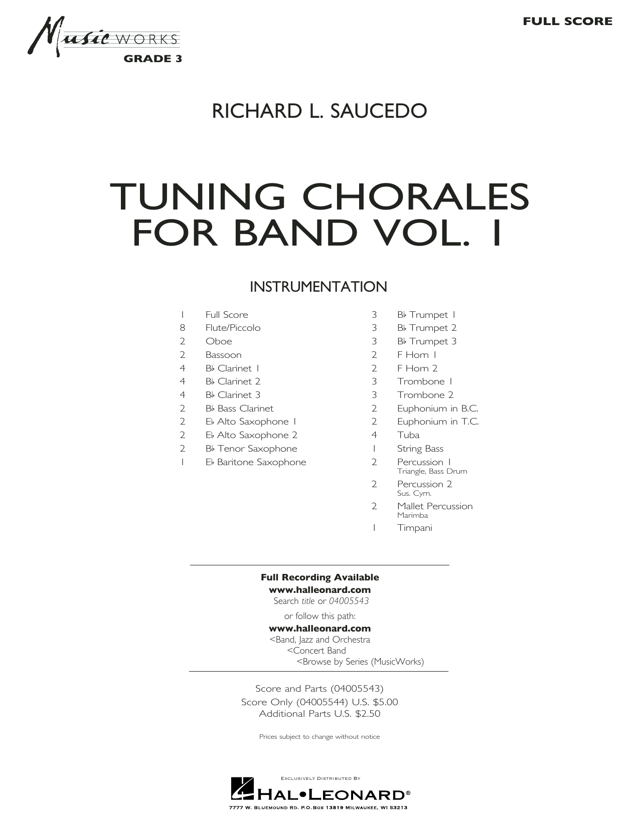 Tuning Chorales for Band - Conductor Score (Full Score) (Concert Band)