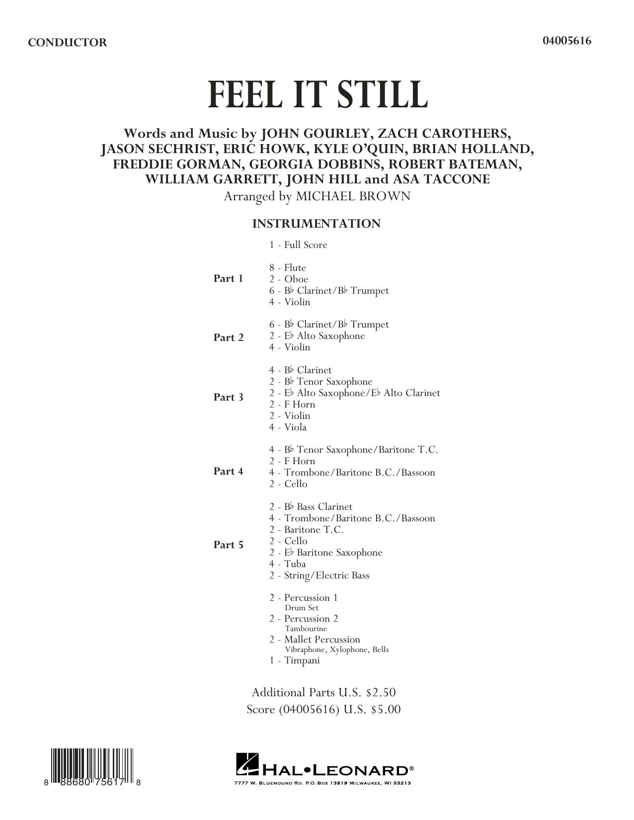 Feel It Still - Conductor Score (Full Score) (Concert Band: Flex-Band)