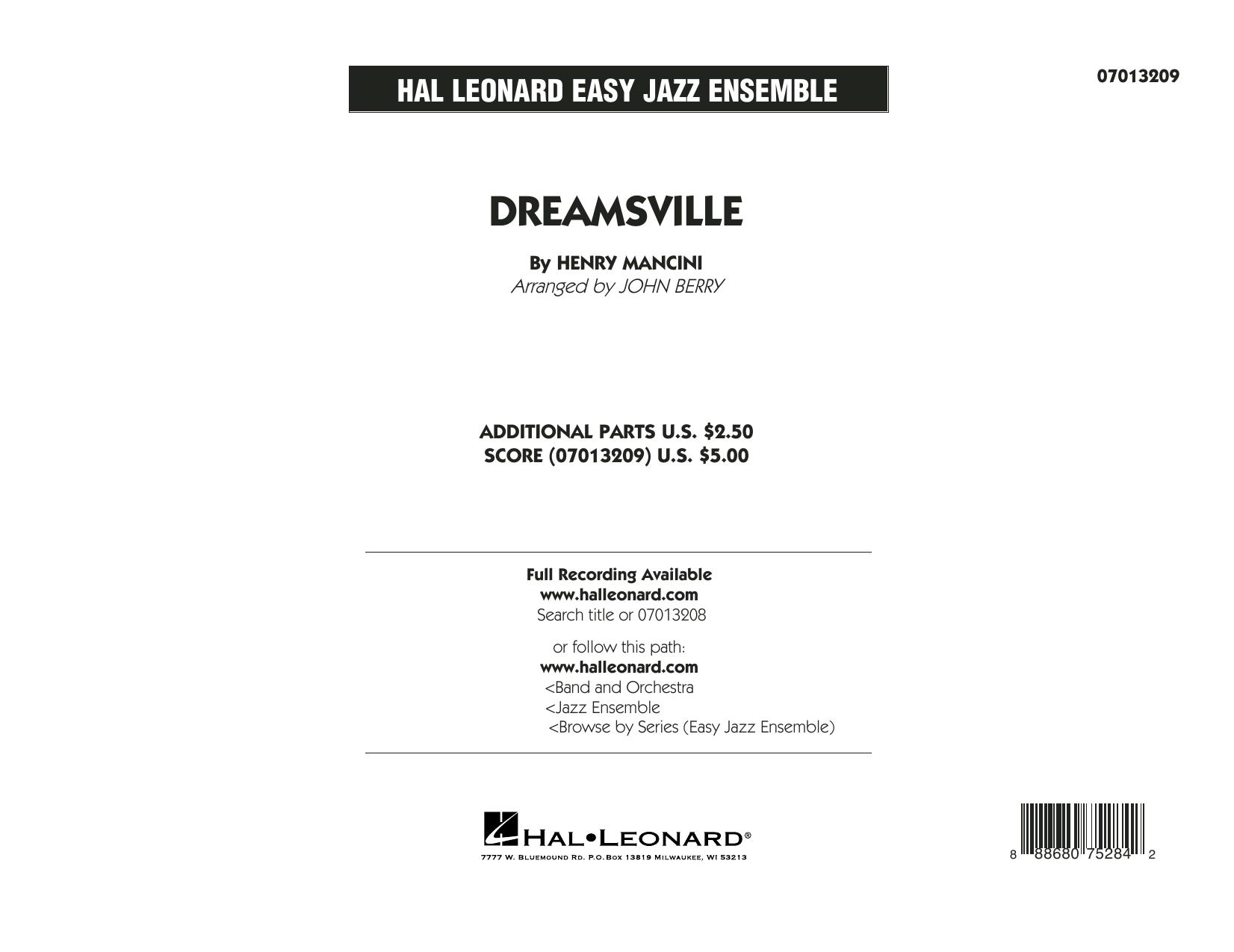 Dreamsville - Conductor Score (Full Score) (Jazz Ensemble)