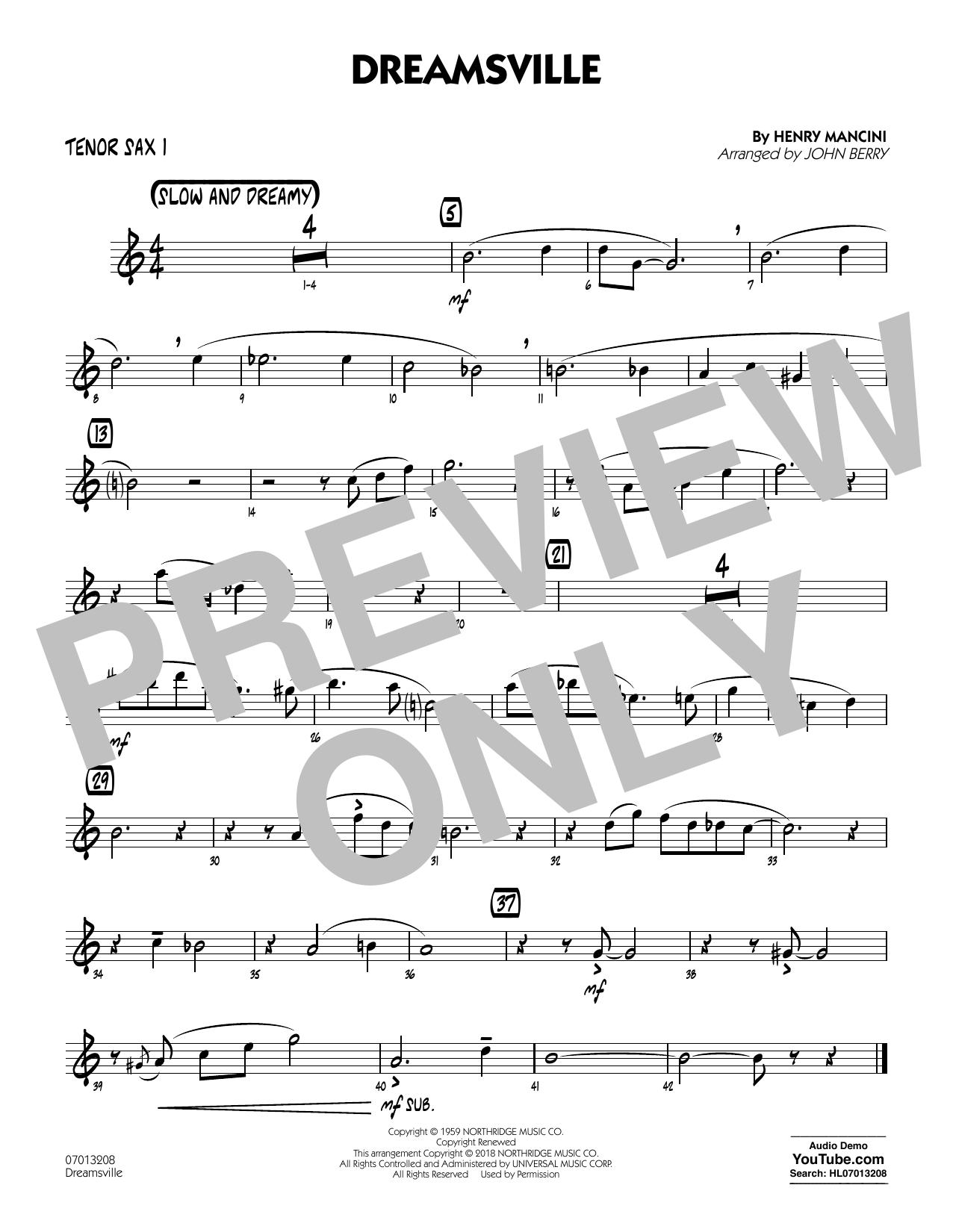 Dreamsville - Tenor Sax 1 (Jazz Ensemble)
