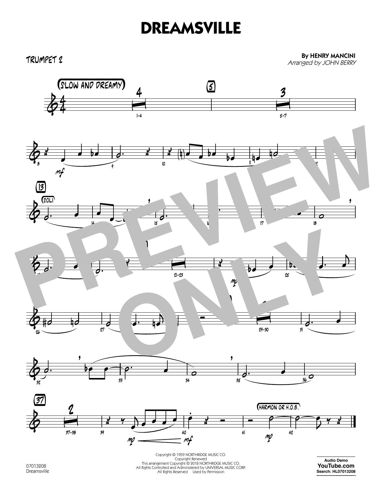 Dreamsville - Trumpet 2 (Jazz Ensemble)
