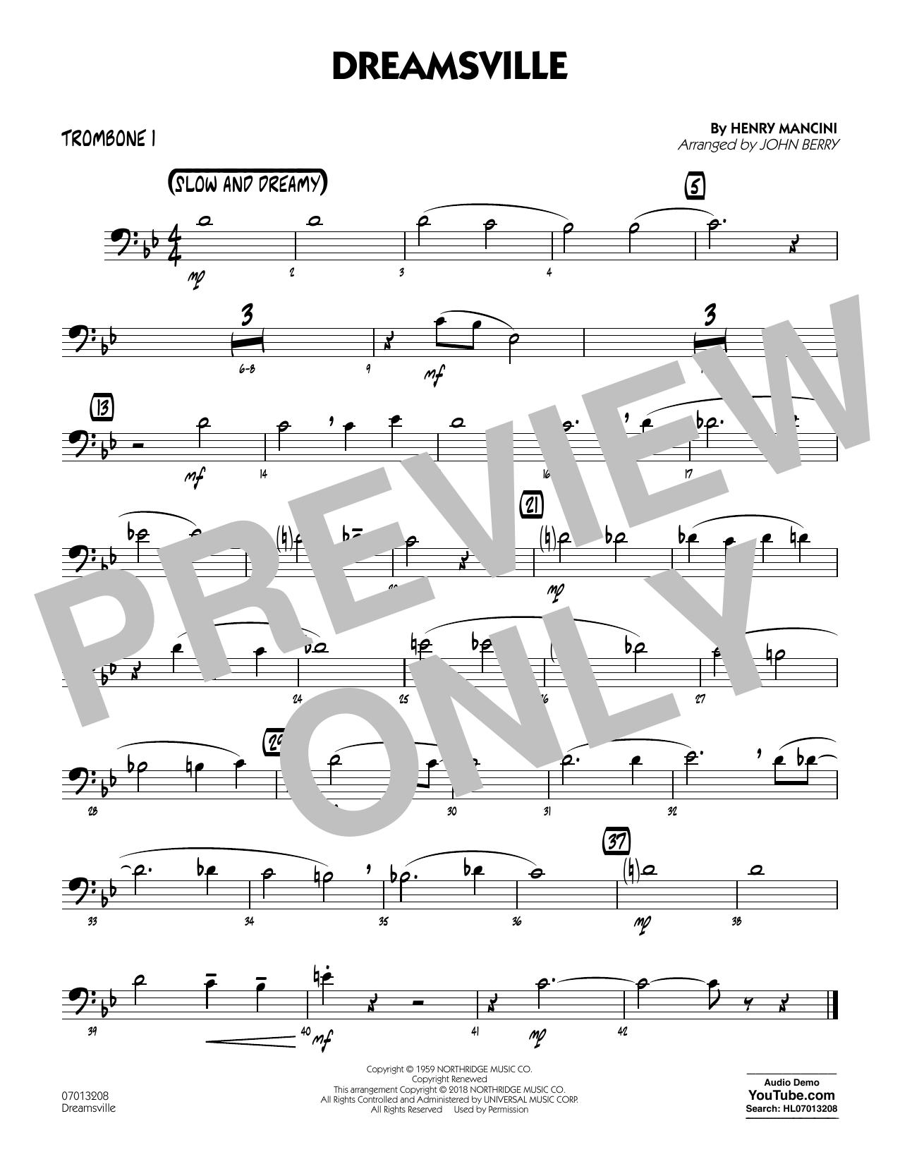 Dreamsville - Trombone 1 (Jazz Ensemble)