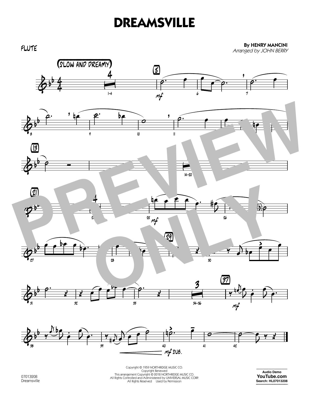 Dreamsville - Flute (Jazz Ensemble)