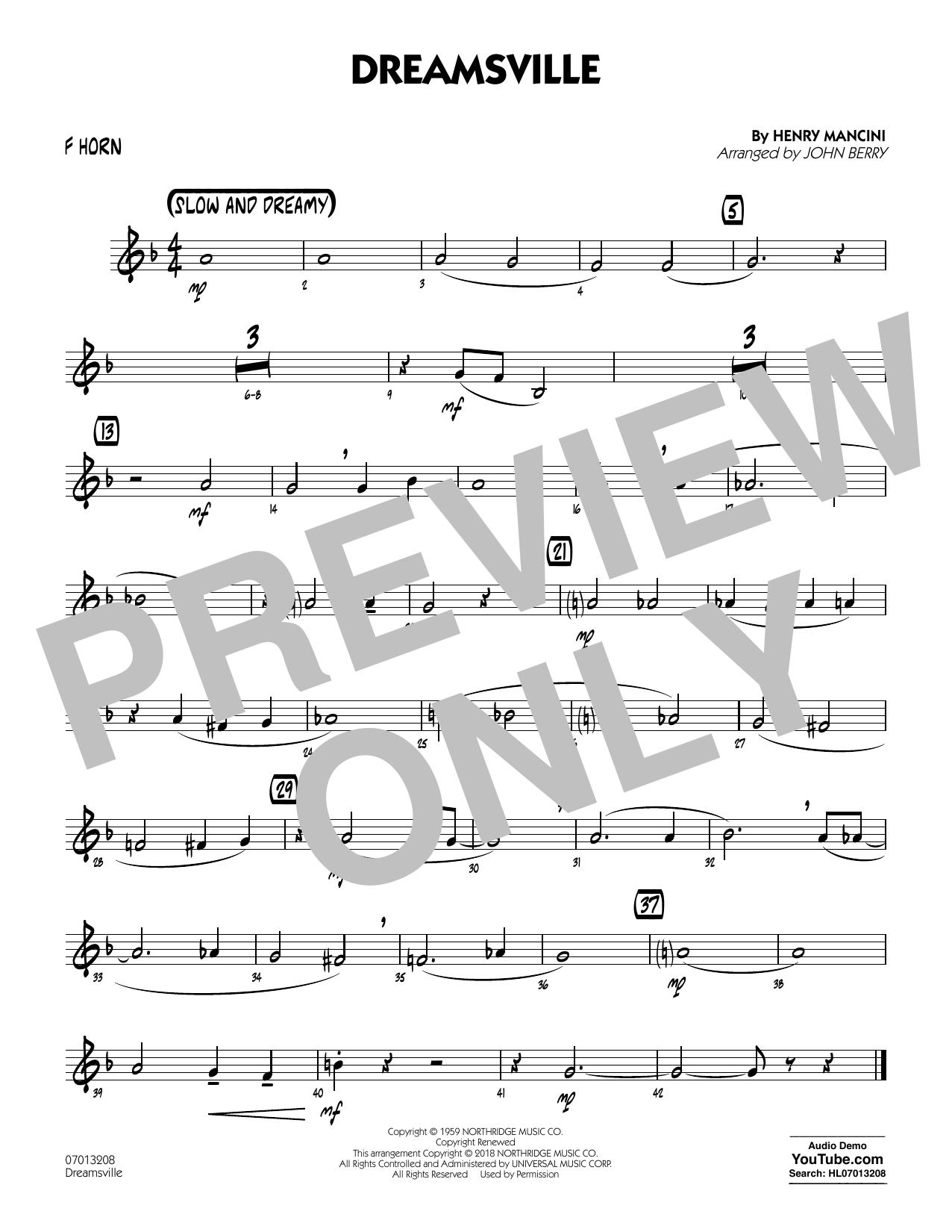 Dreamsville - F Horn (Jazz Ensemble)
