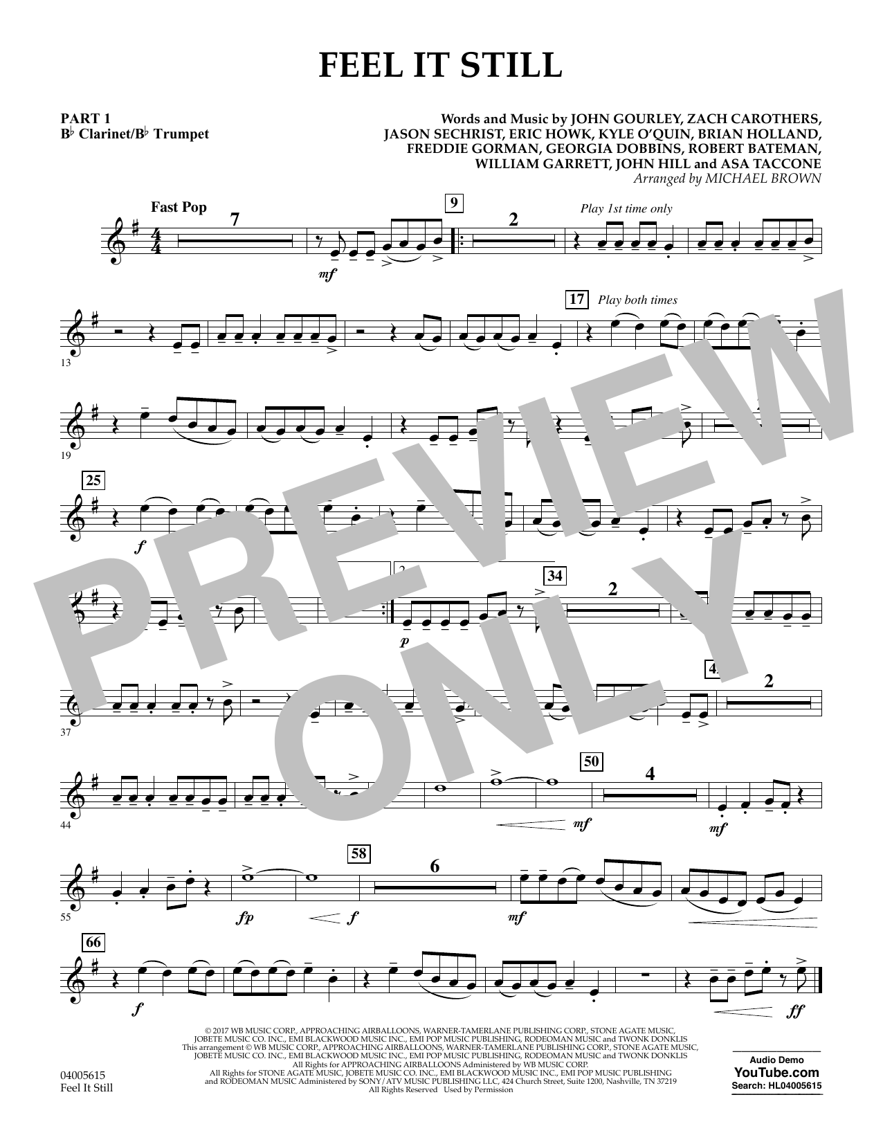 Feel It Still - Pt.1 - Bb Clarinet/Bb Trumpet (Flex-Band)