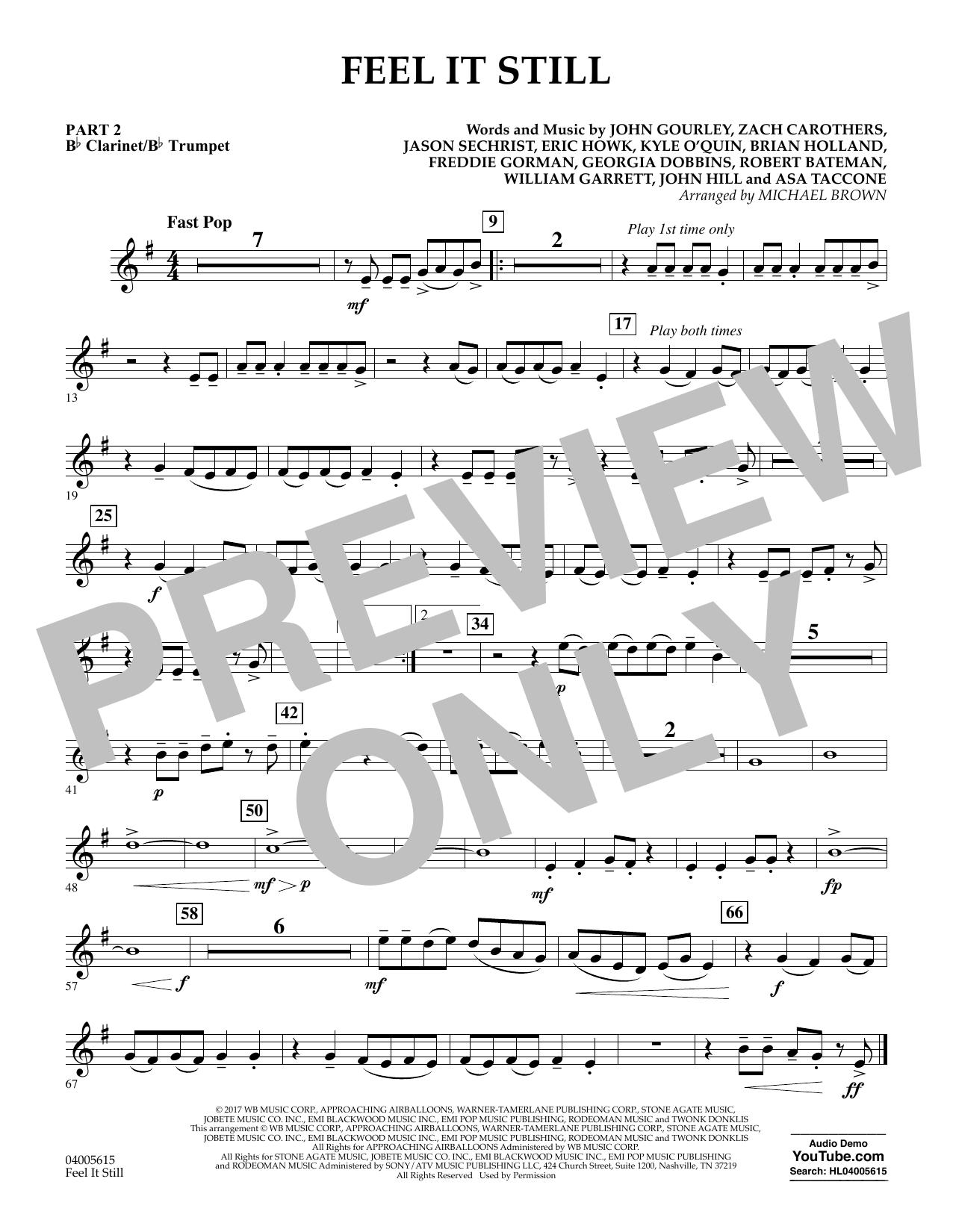 Feel It Still - Pt.2 - Bb Clarinet/Bb Trumpet (Flex-Band)