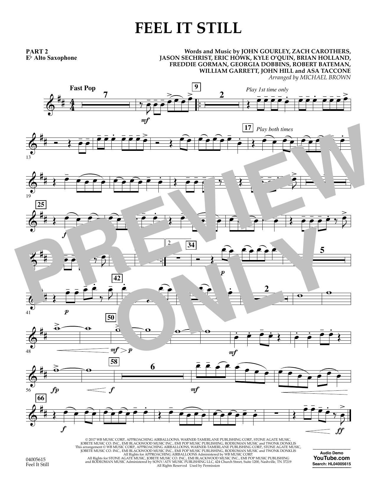 Feel It Still - Pt.2 - Eb Alto Saxophone (Flex-Band)