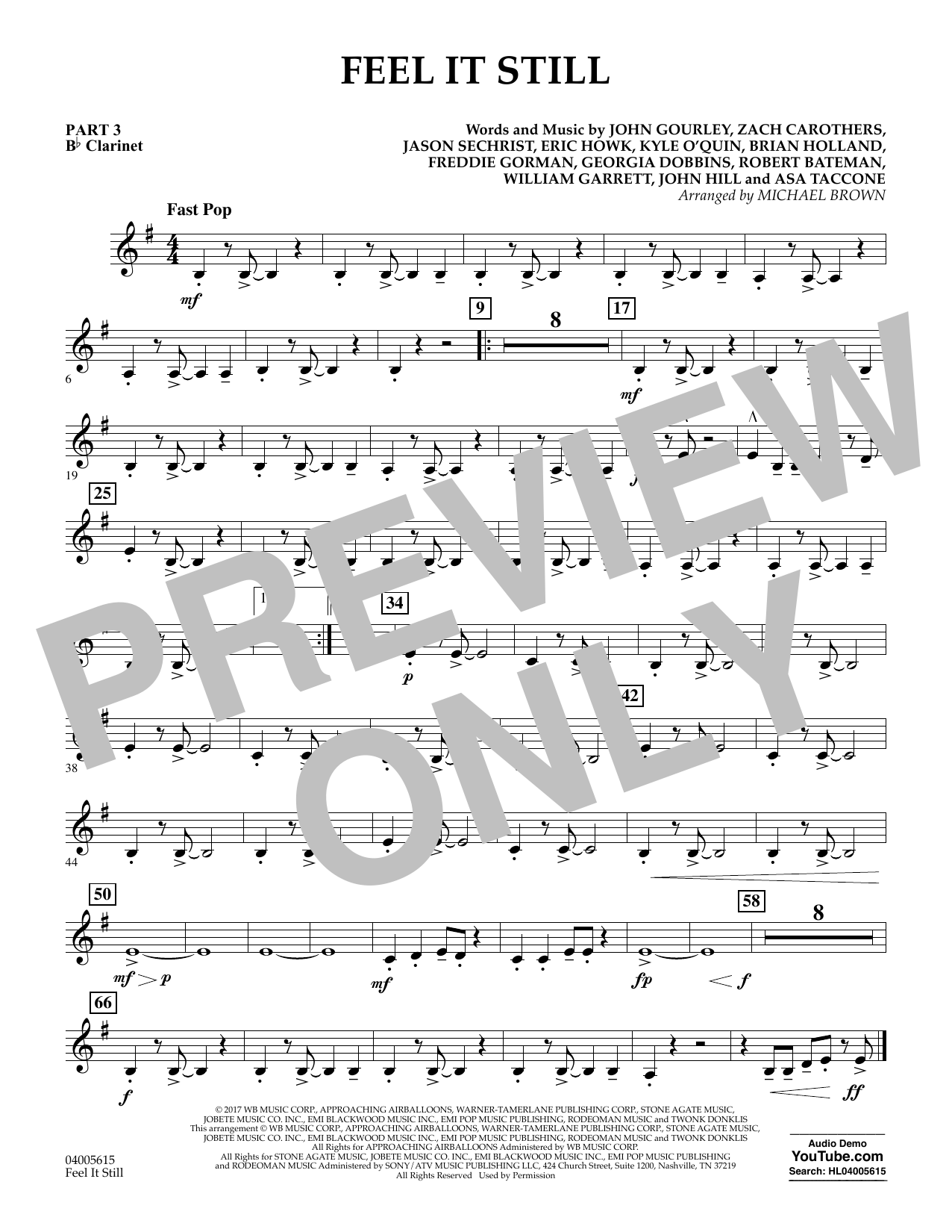 Feel It Still - Pt.3 - Bb Clarinet (Flex-Band)