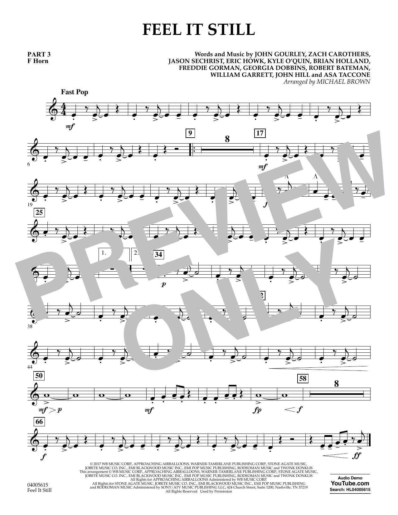 Feel It Still - Pt.3 - F Horn (Flex-Band)