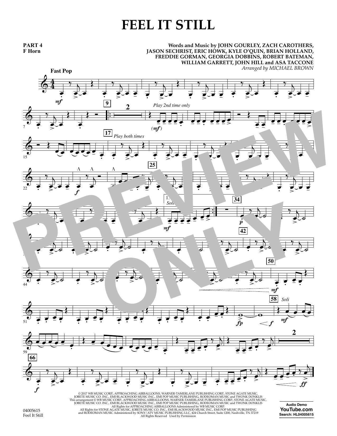 Feel It Still - Pt.4 - F Horn (Flex-Band)
