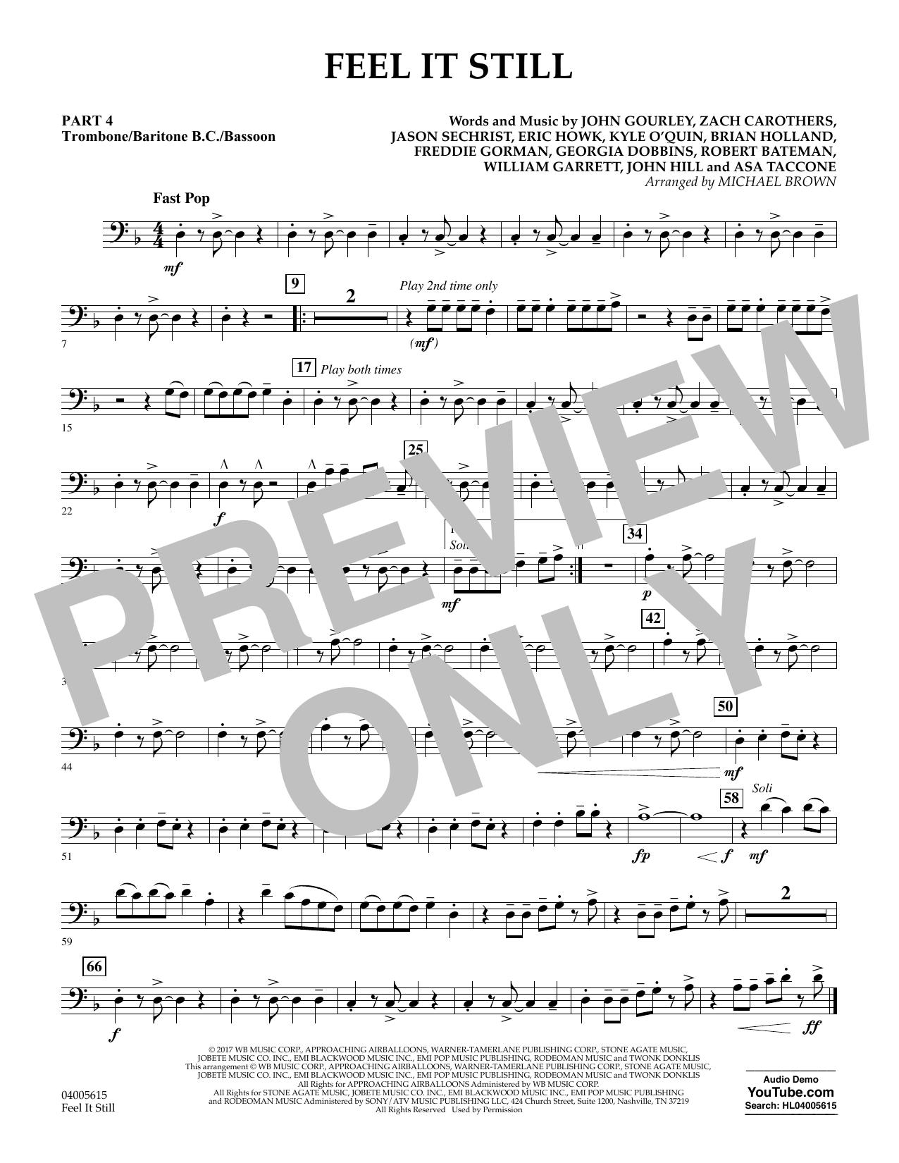 Feel It Still - Pt.4 - Trombone/Bar. B.C./Bsn. (Flex-Band)