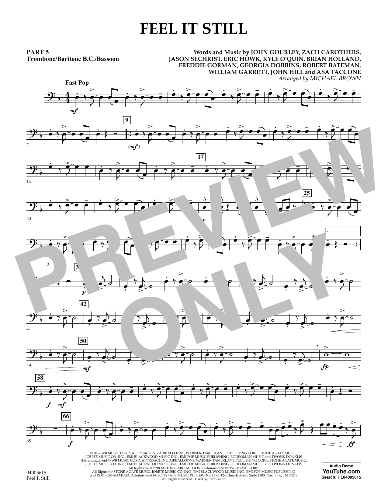 Feel It Still - Pt.5 - Trombone/Bar. B.C./Bsn. (Flex-Band)