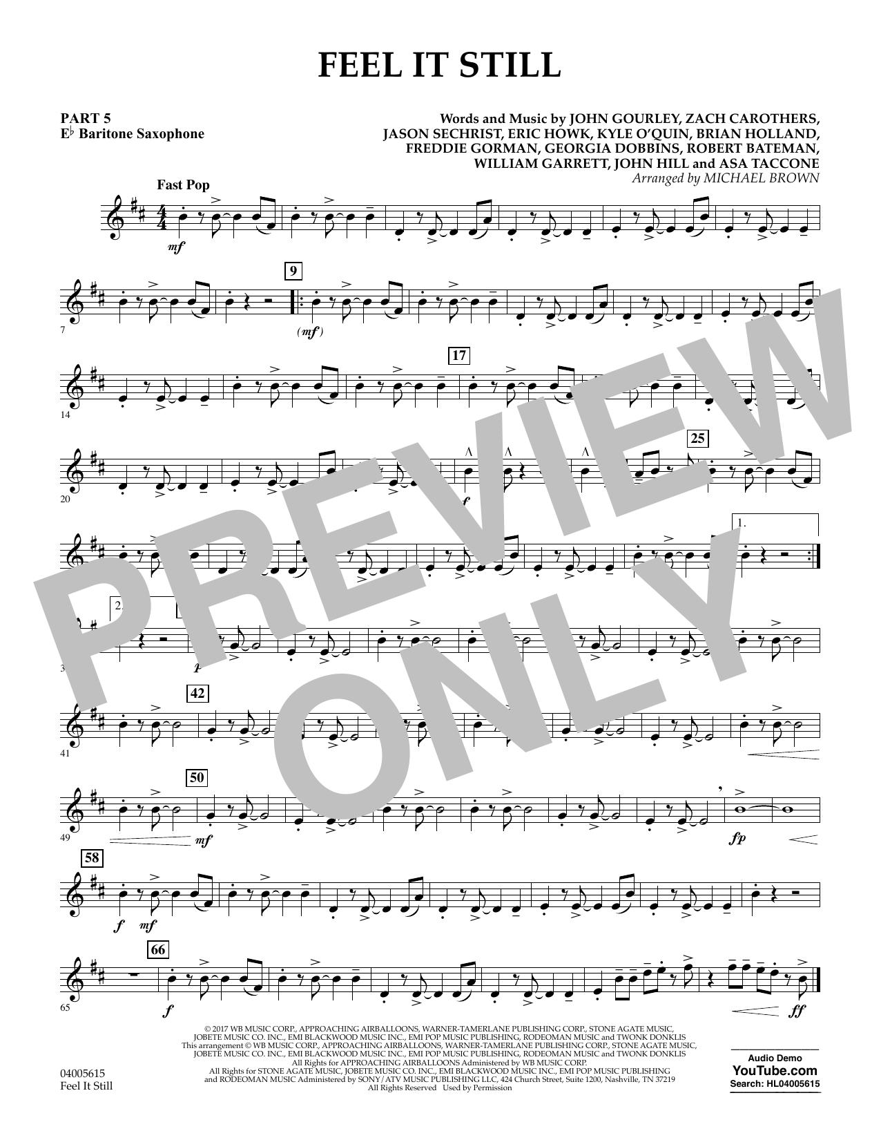 Feel It Still - Pt.5 - Eb Baritone Saxophone (Flex-Band)