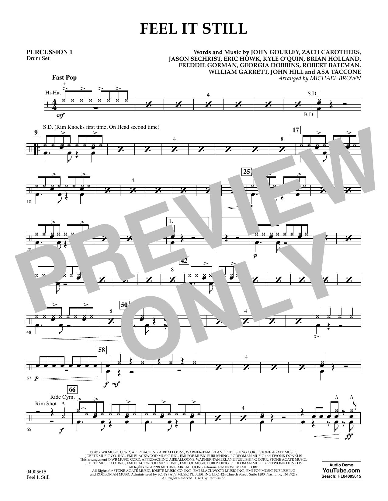 Feel It Still - Percussion 1 (Flex-Band)