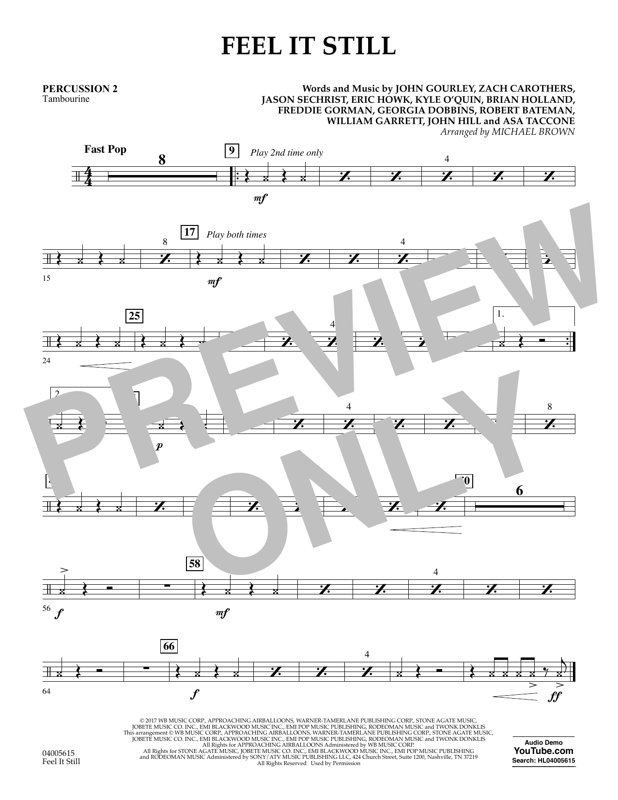 Feel It Still - Percussion 2 (Flex-Band)