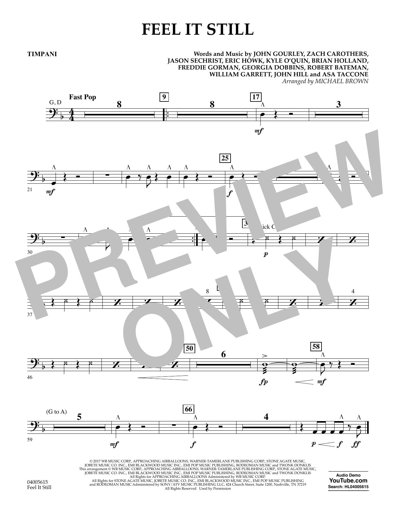 Feel It Still - Timpani (Flex-Band)