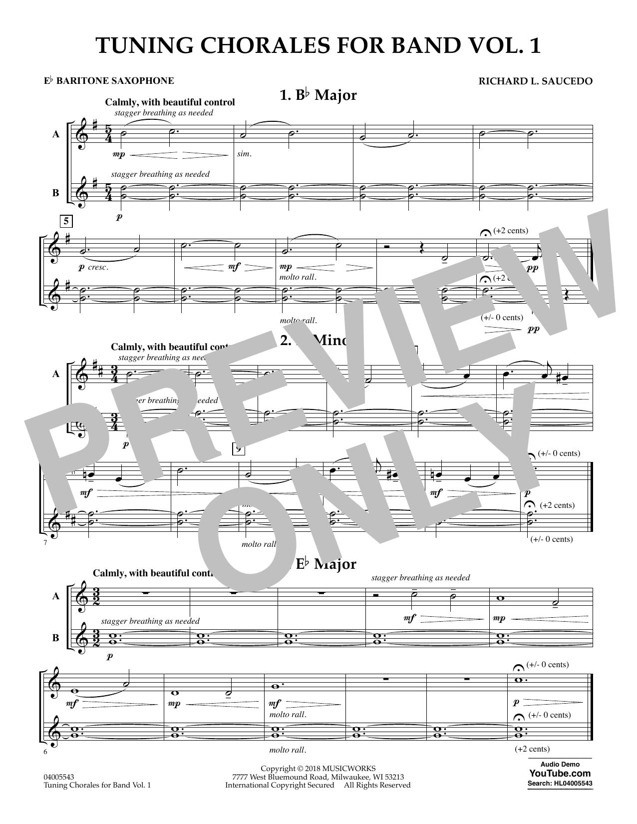 Tuning Chorales for Band - Eb Baritone Saxophone (Concert Band)