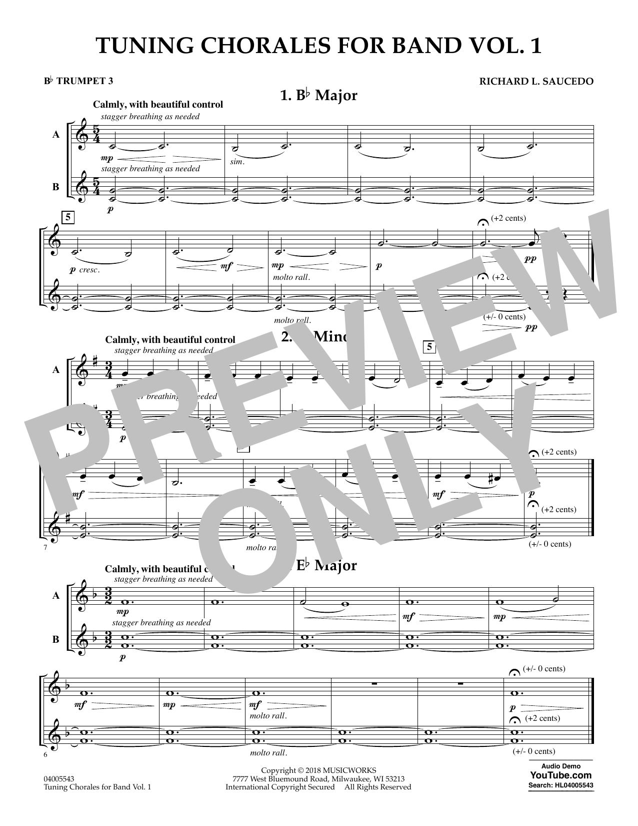 Tuning Chorales for Band - Bb Trumpet 3 (Concert Band)