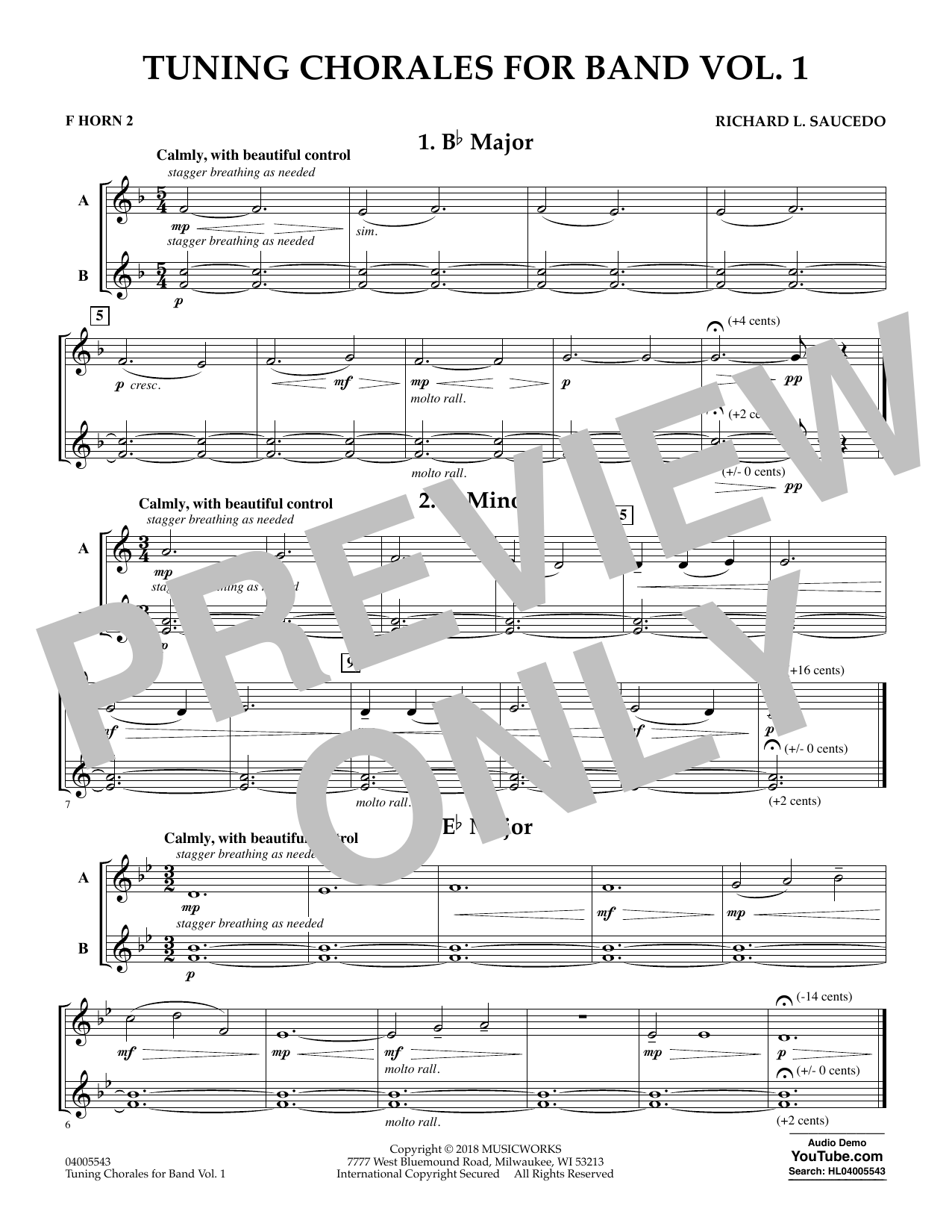 Tuning Chorales for Band - F Horn 2 (Concert Band)