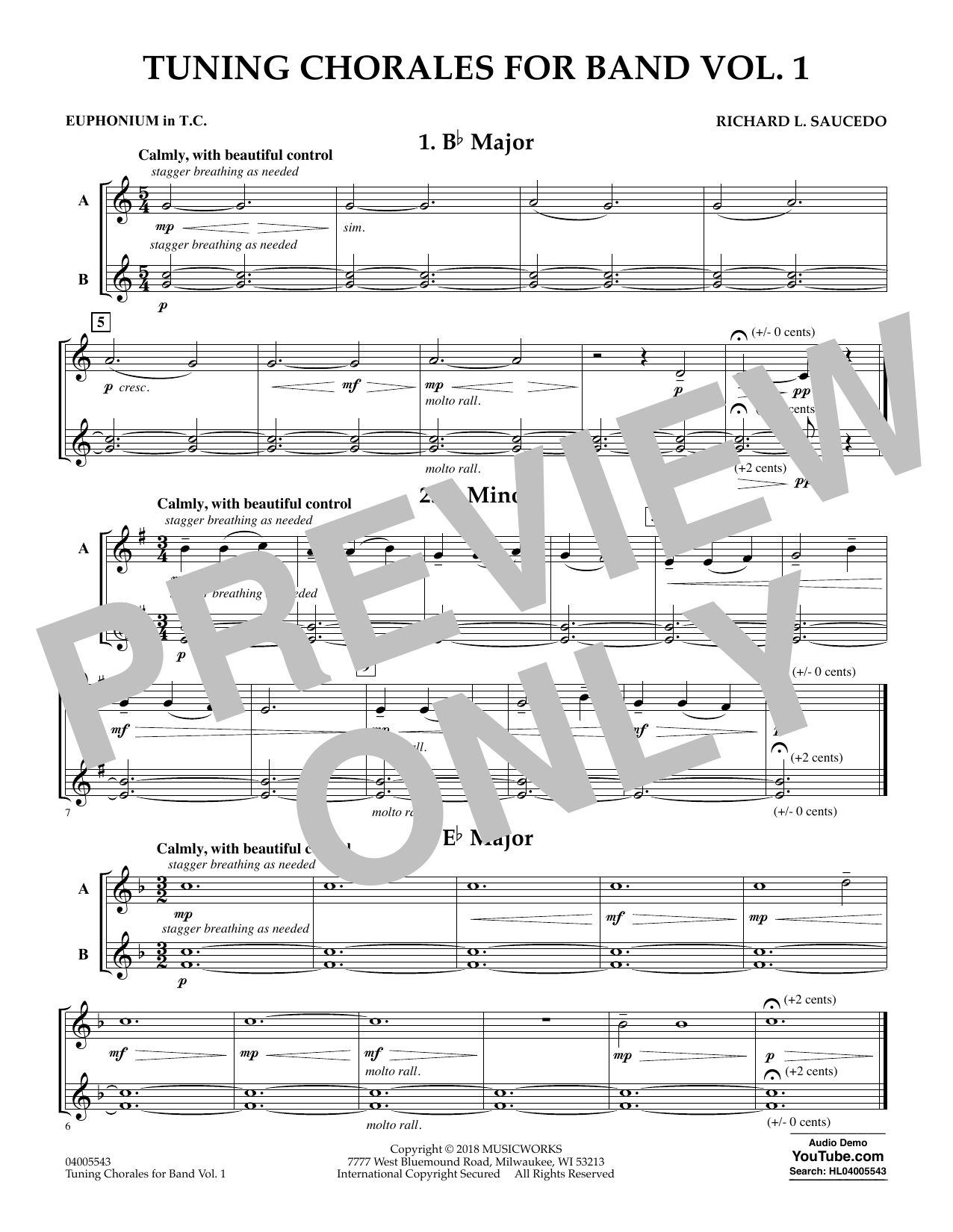 Tuning Chorales for Band - Euphonium in Treble Clef (Concert Band)