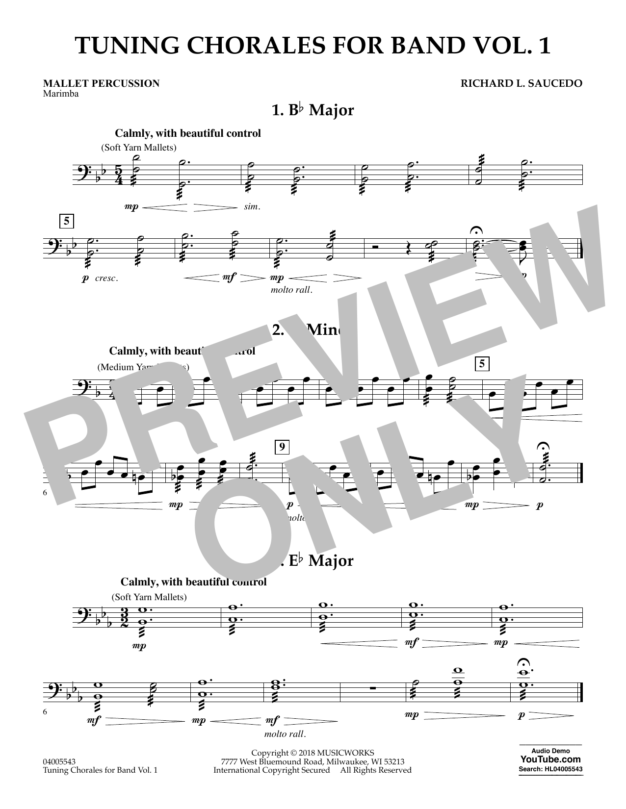 Tuning Chorales for Band - Mallet Percussion (Concert Band)