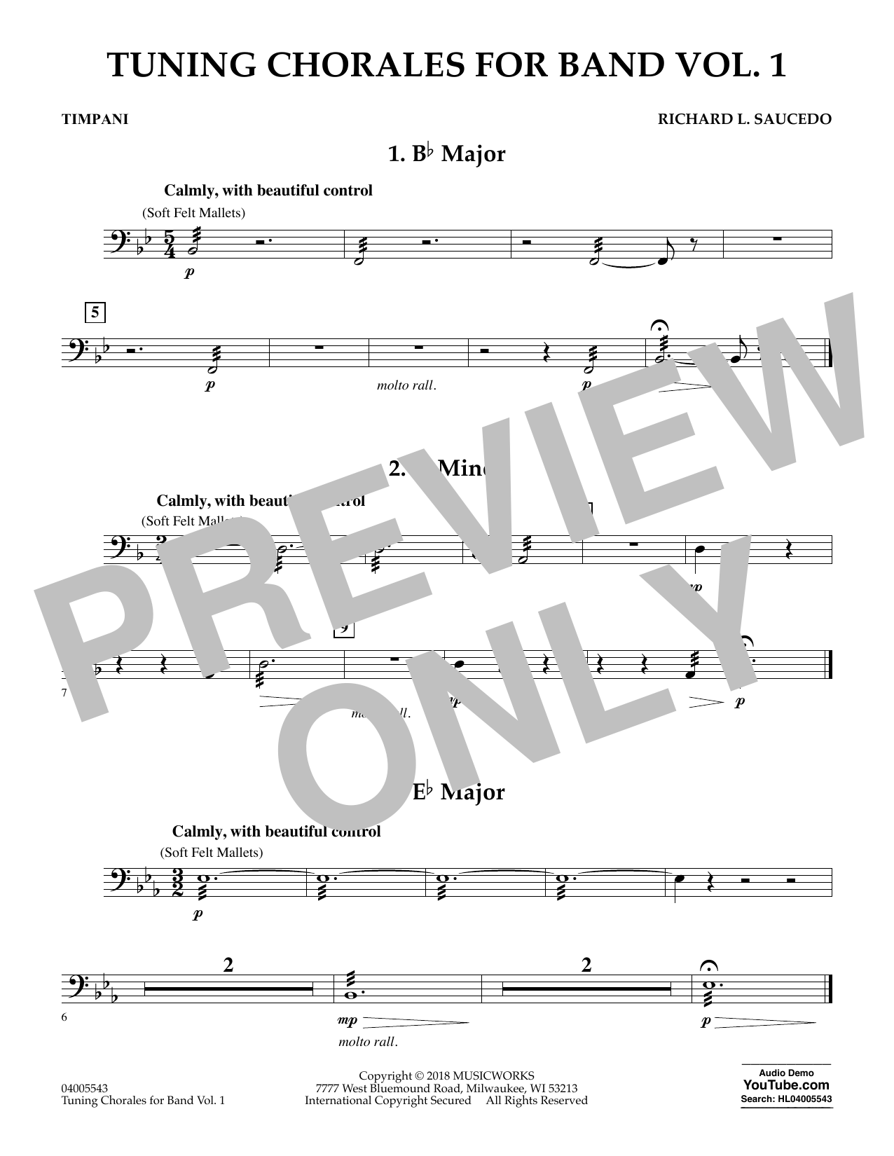 Tuning Chorales for Band - Timpani (Concert Band)