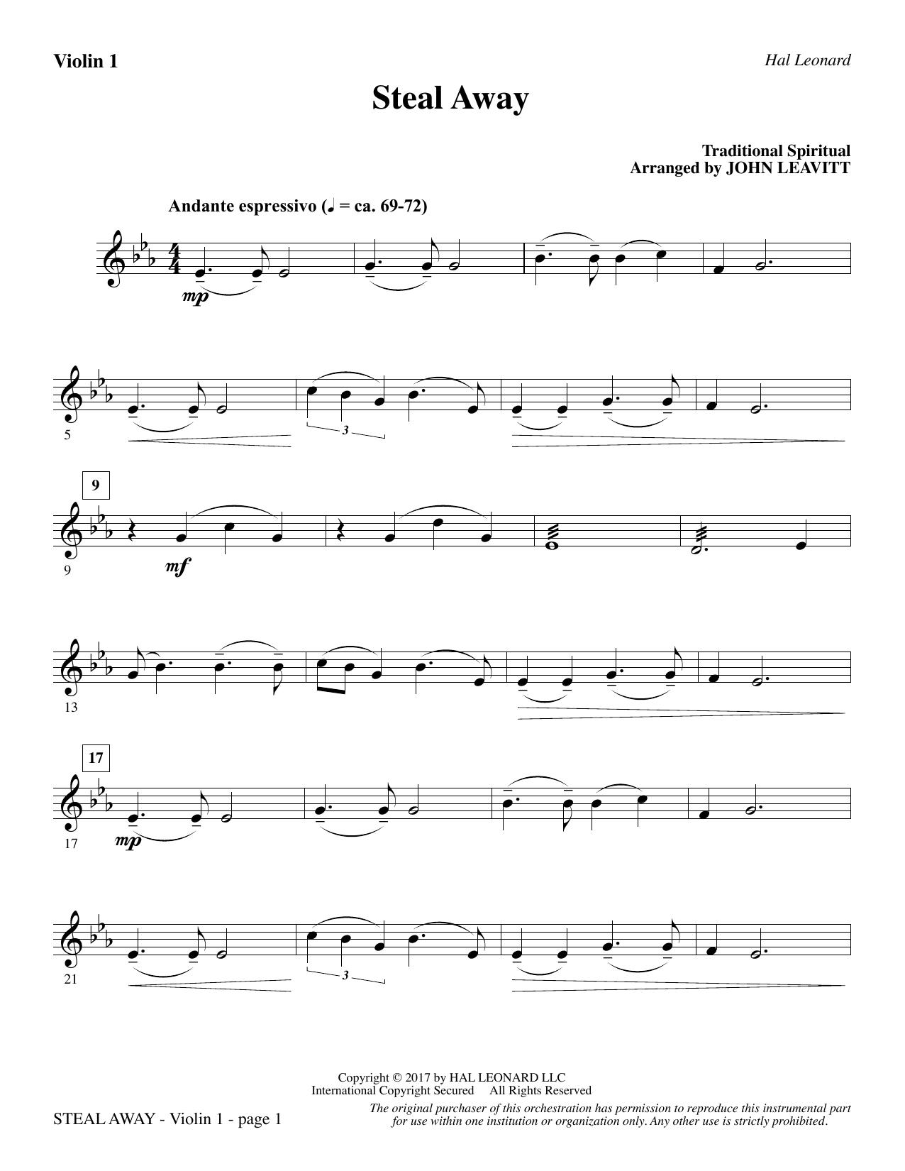 Steal Away - Violin 1 (Choir Instrumental Pak)