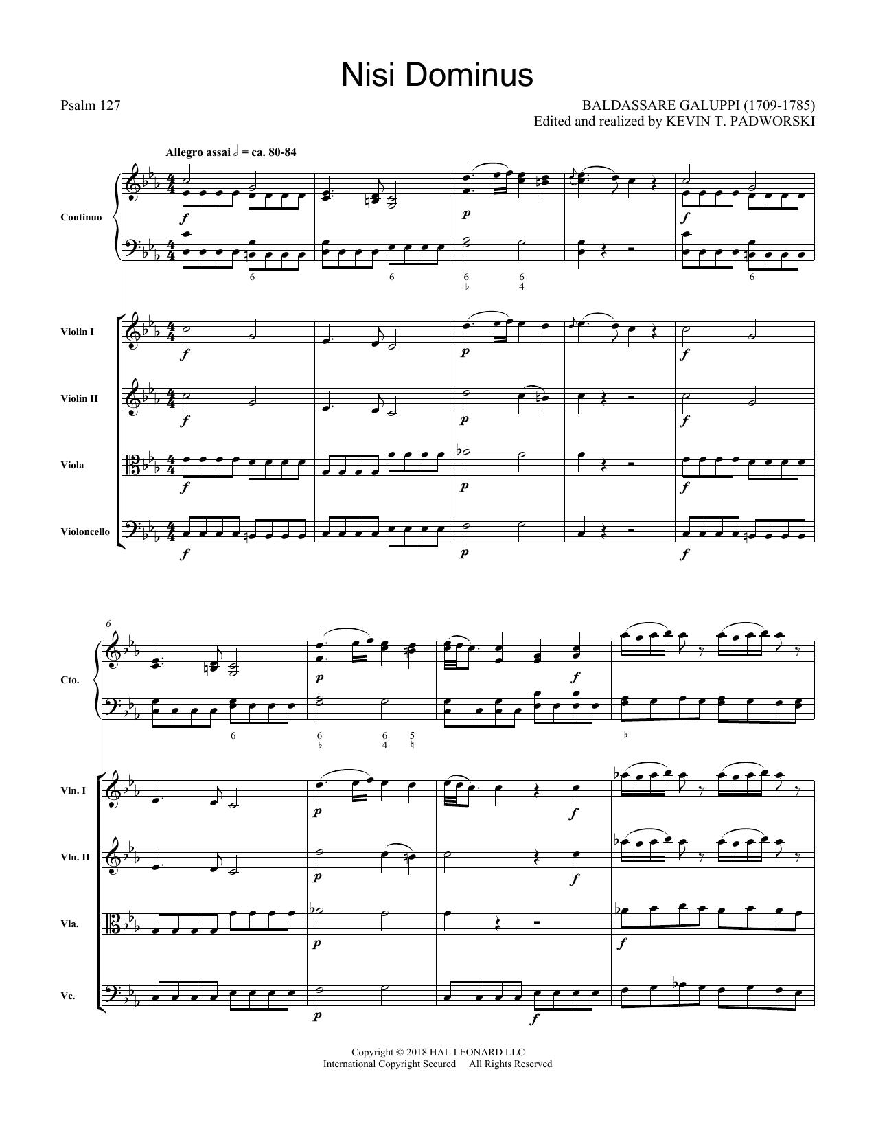 Nisi Dominus - Score (Choir Instrumental Pak)