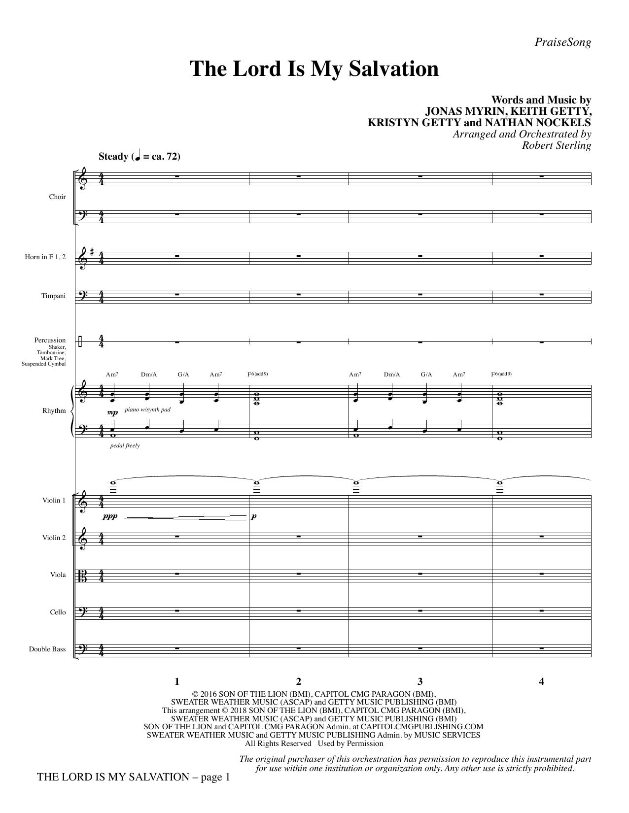 The Lord Is My Salvation - Full Score (Choir Instrumental Pak)
