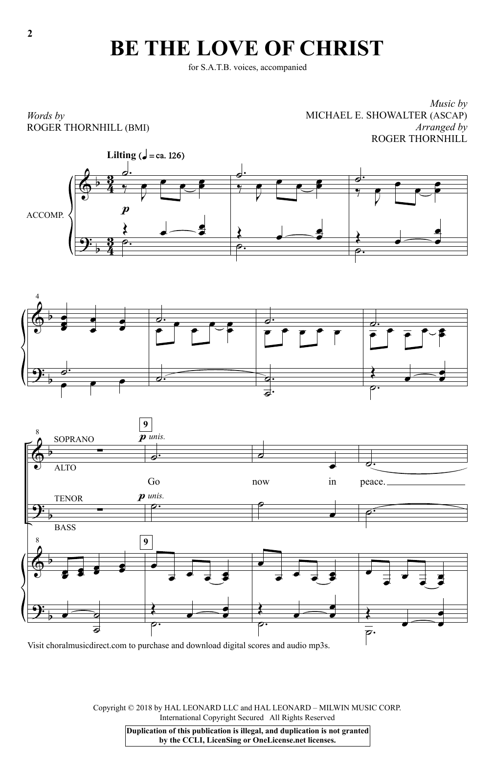Be The Love Of Christ Sheet Music