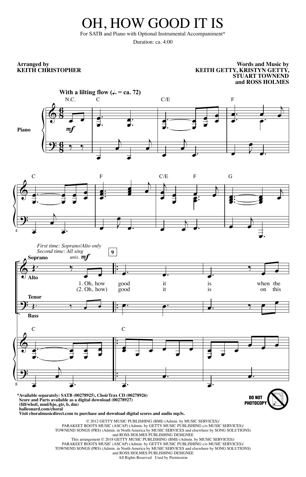 Oh, How Good It Is Sheet Music