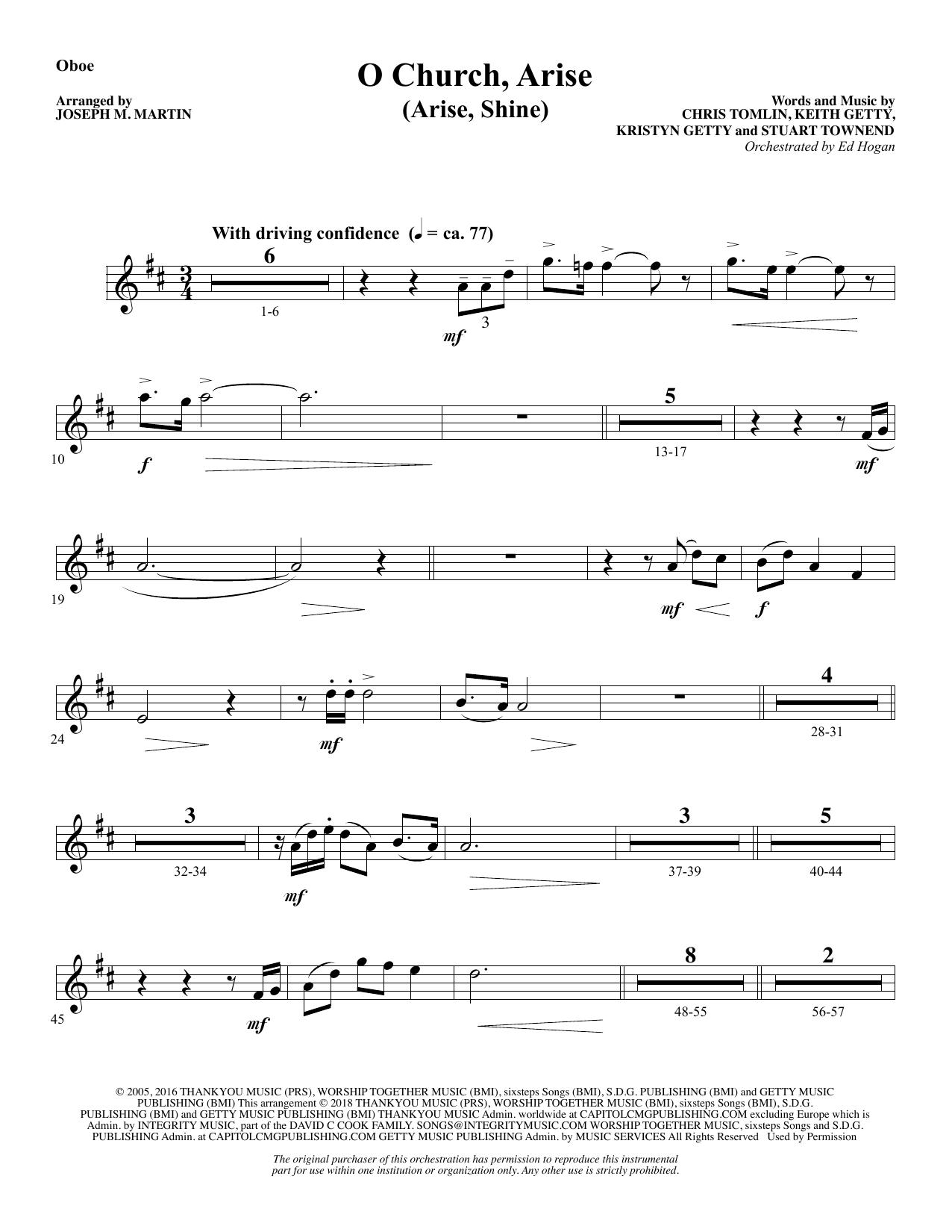 O Church, Arise (Arise, Shine) - Oboe (Choir Instrumental Pak)