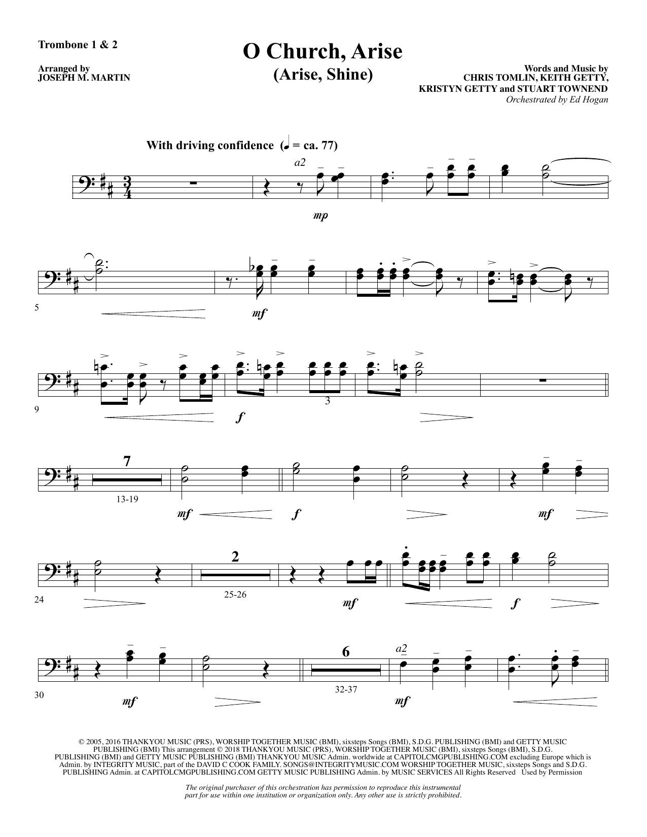 O Church, Arise (Arise, Shine) - Trombone 1 & 2 (Choir Instrumental Pak)