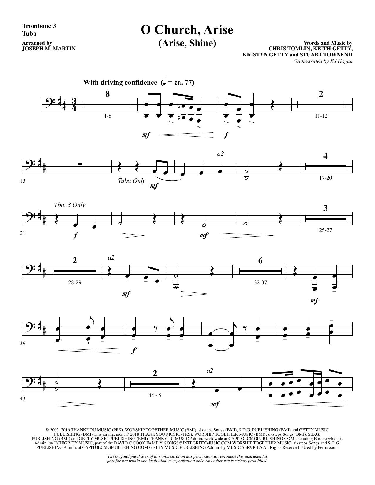 O Church, Arise (Arise, Shine) - Trombone 3/Tuba (Choir Instrumental Pak)
