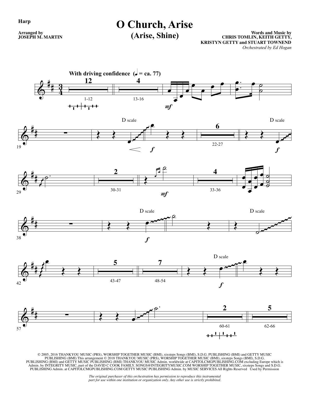 O Church, Arise (Arise, Shine) - Harp (Choir Instrumental Pak)