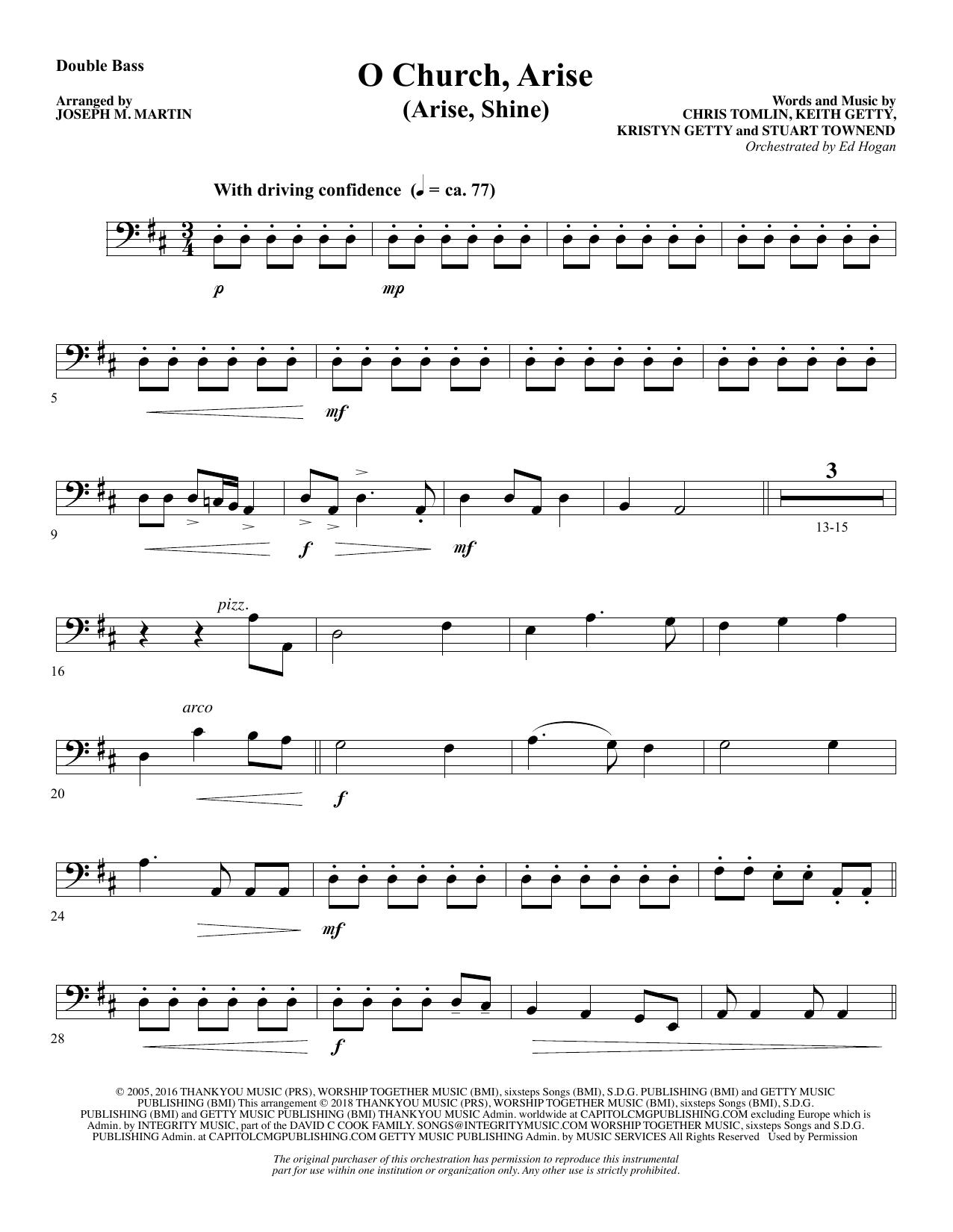 O Church, Arise (Arise, Shine) - Double Bass (Choir Instrumental Pak)