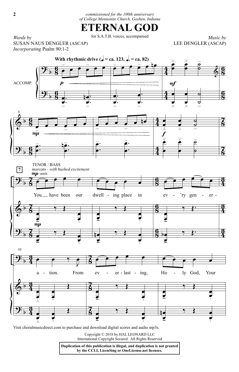 Eternal God Sheet Music