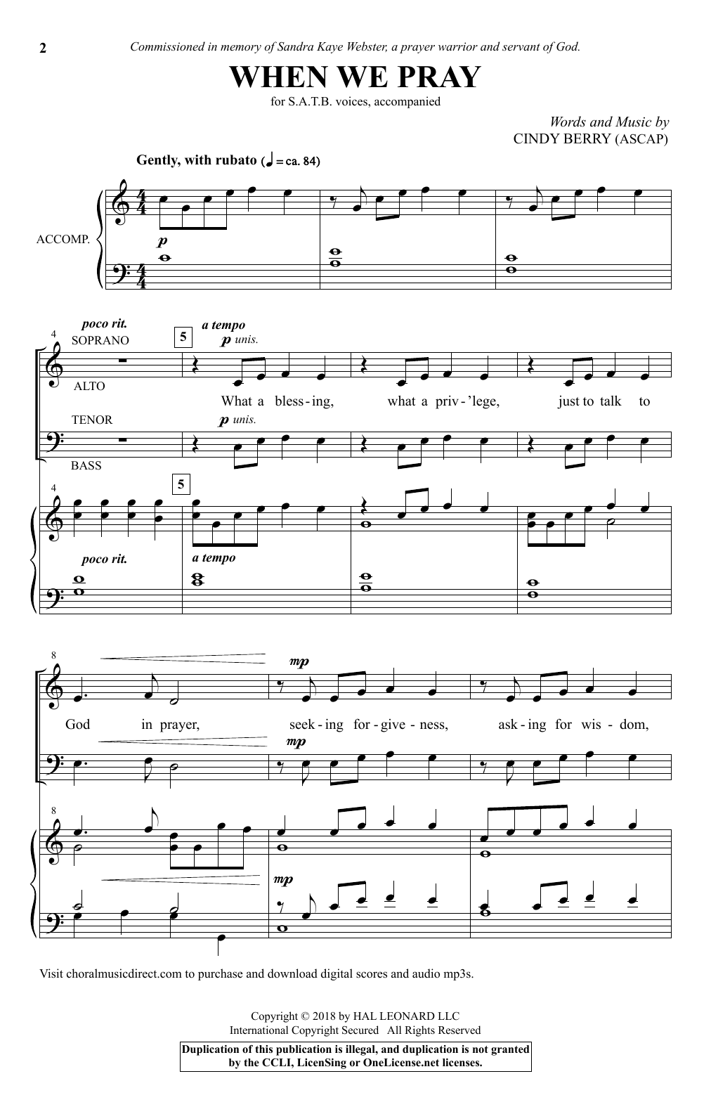 When We Pray (SATB Choir)