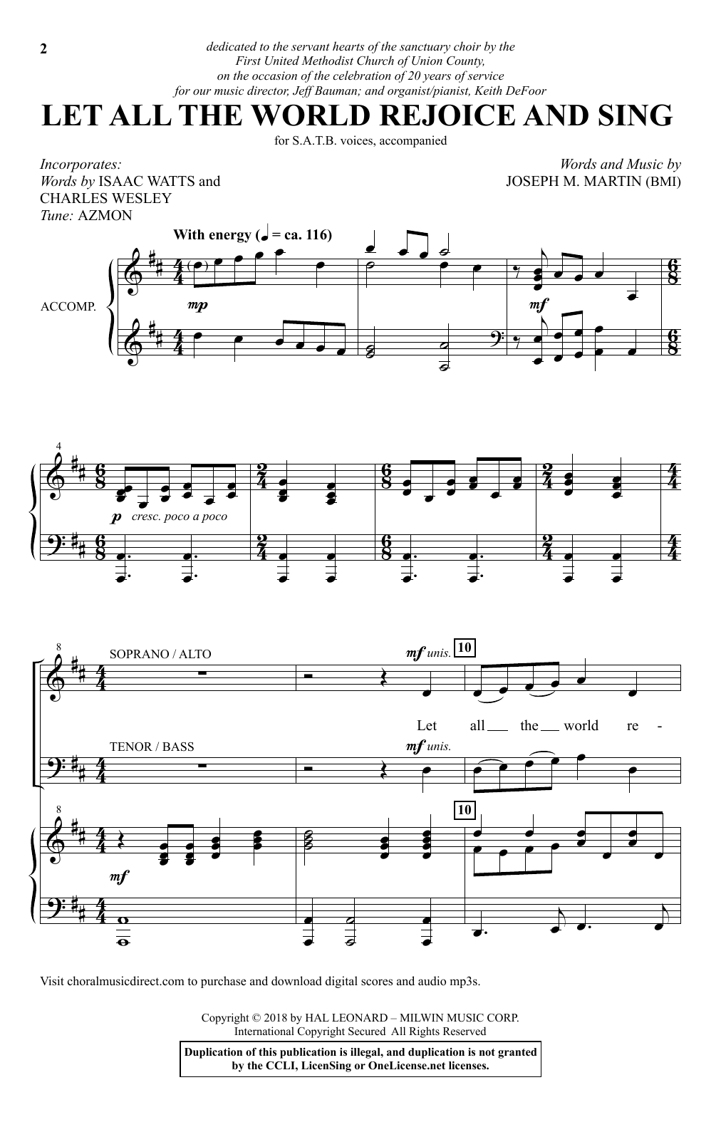 Let All The World Rejoice And Sing (SATB Choir)