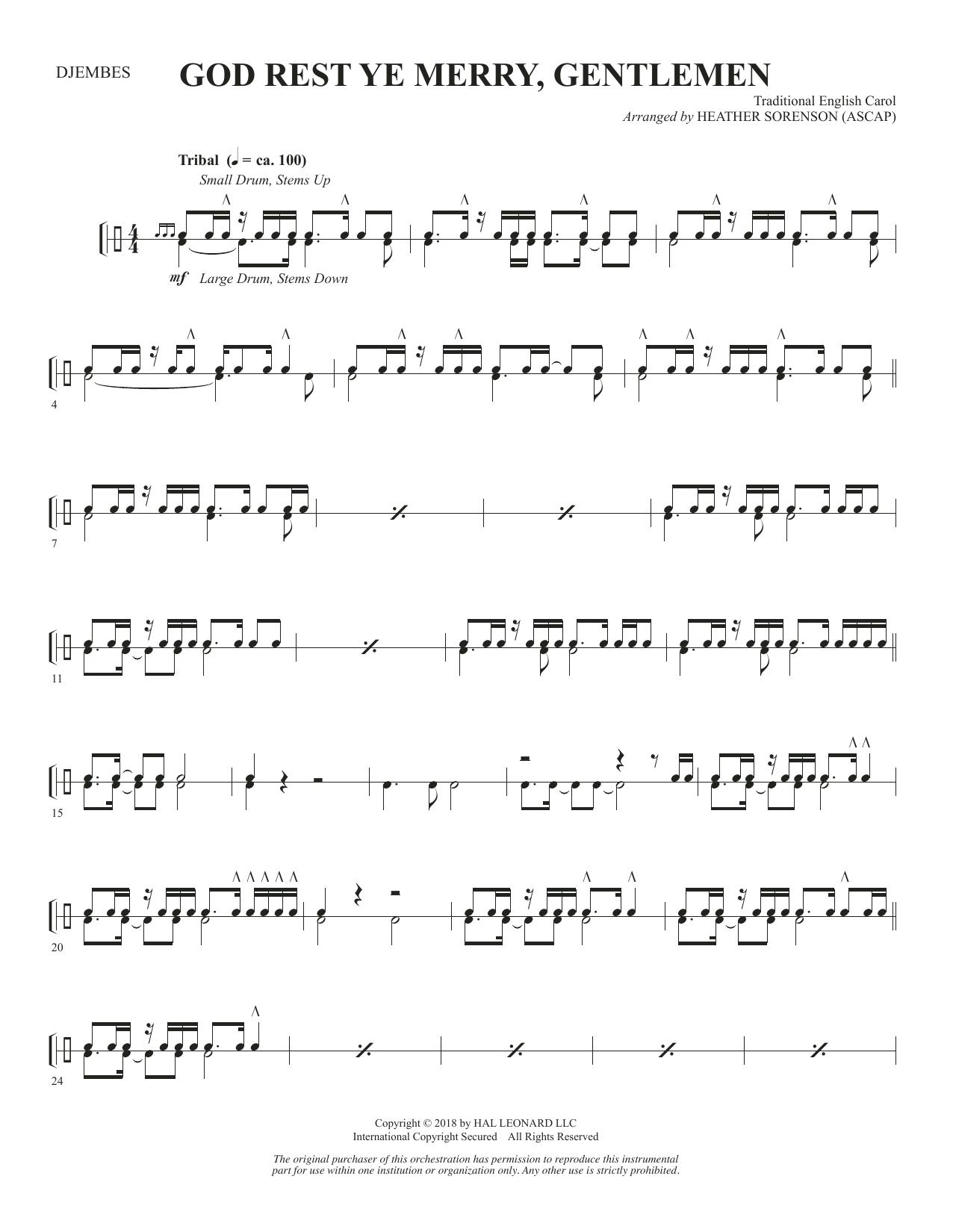 God Rest Ye Merry, Gentlemen - Djembe (Choir Instrumental Pak)