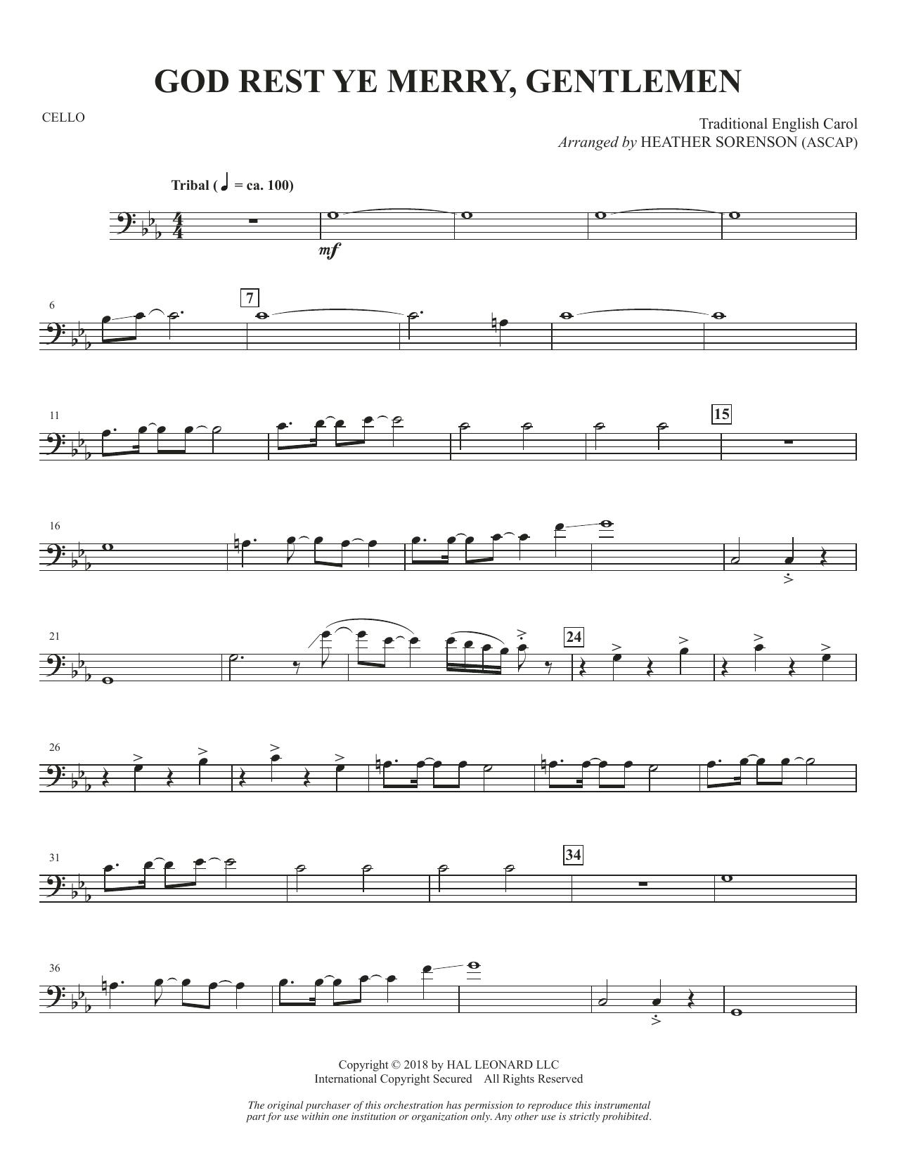 God Rest Ye Merry, Gentlemen - Cello (Choir Instrumental Pak)