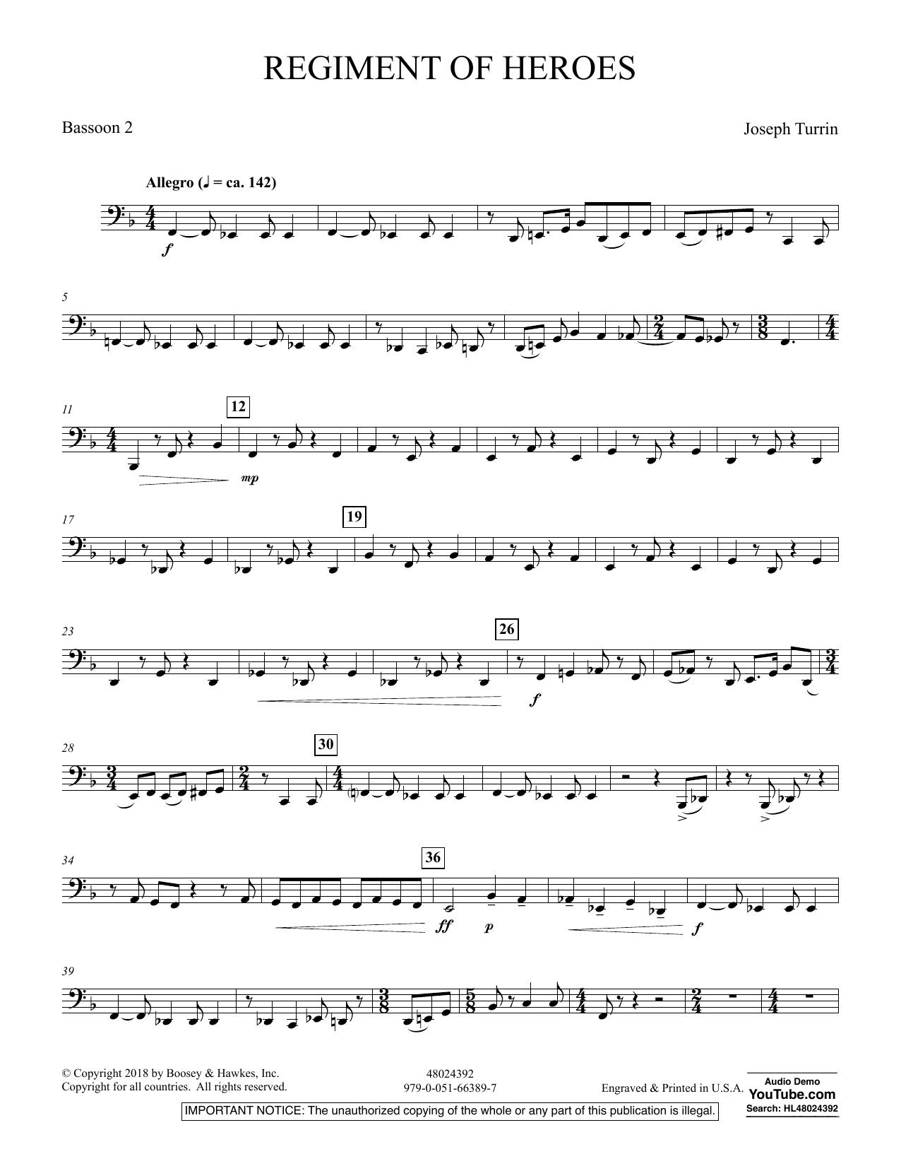 Regiment Of Heroes Windependence Artist Level - Bassoon 2 (Concert Band)