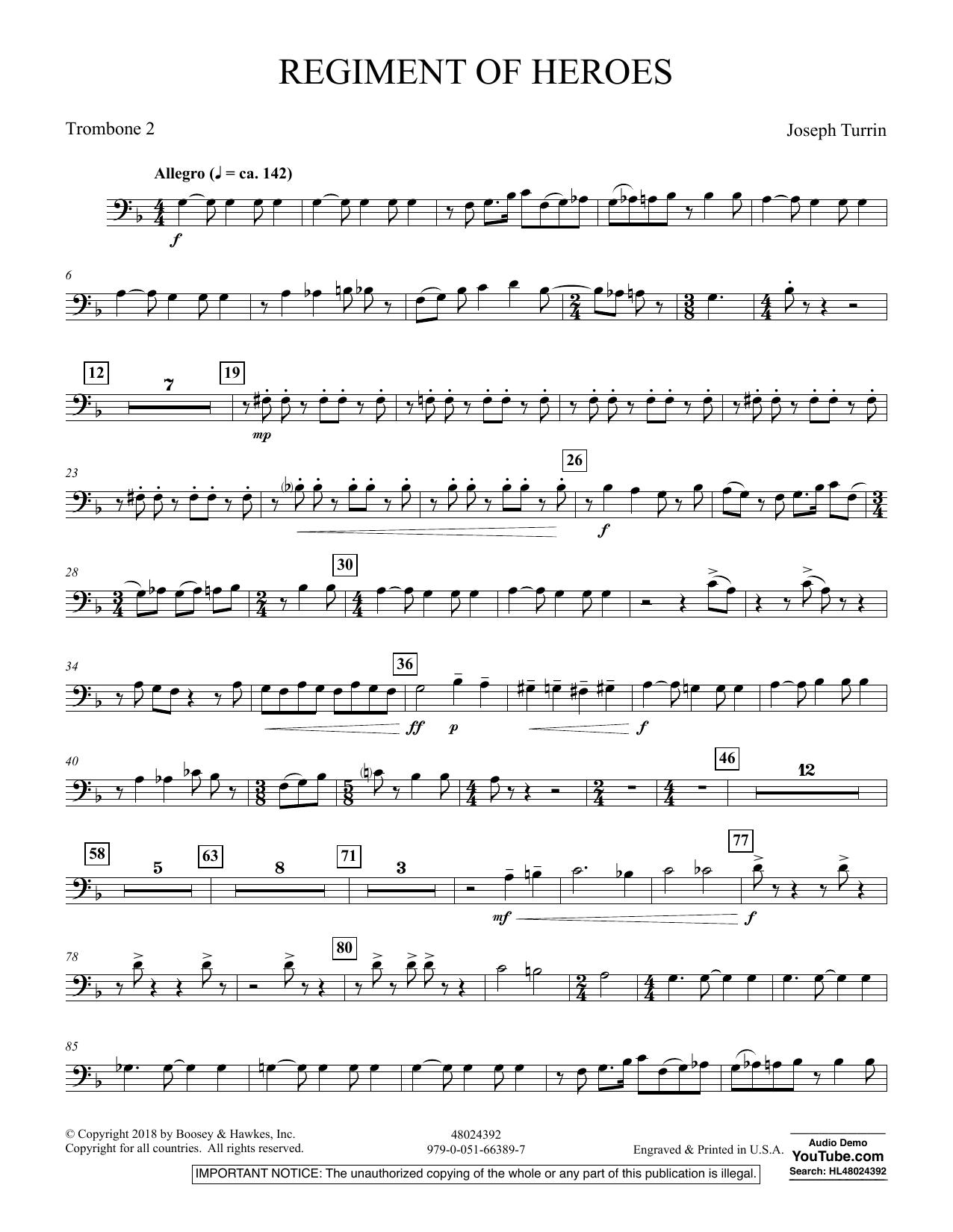 Regiment Of Heroes Windependence Artist Level - Trombone 2 (Concert Band)