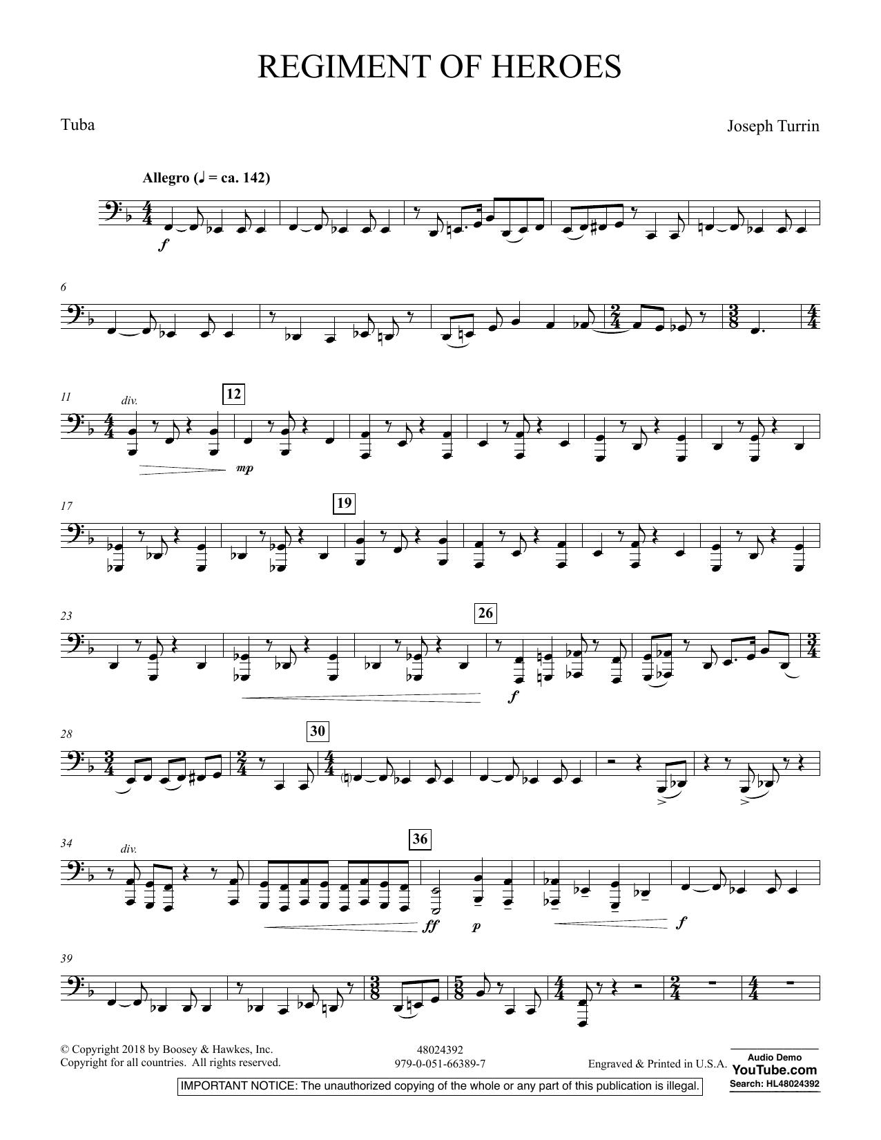 Regiment Of Heroes Windependence Artist Level - Tuba (Concert Band)