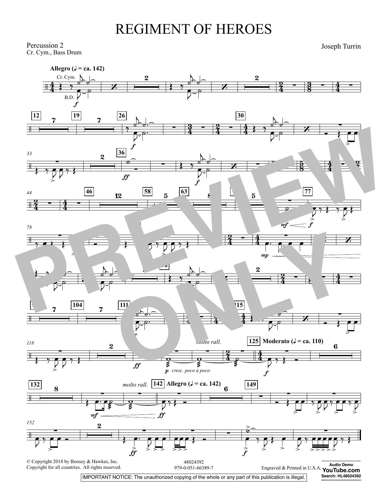 Regiment Of Heroes Windependence Artist Level - Percussion 2 (Concert Band)