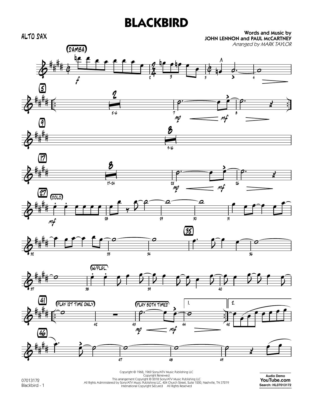 Blackbird - Alto Sax (Jazz Ensemble)