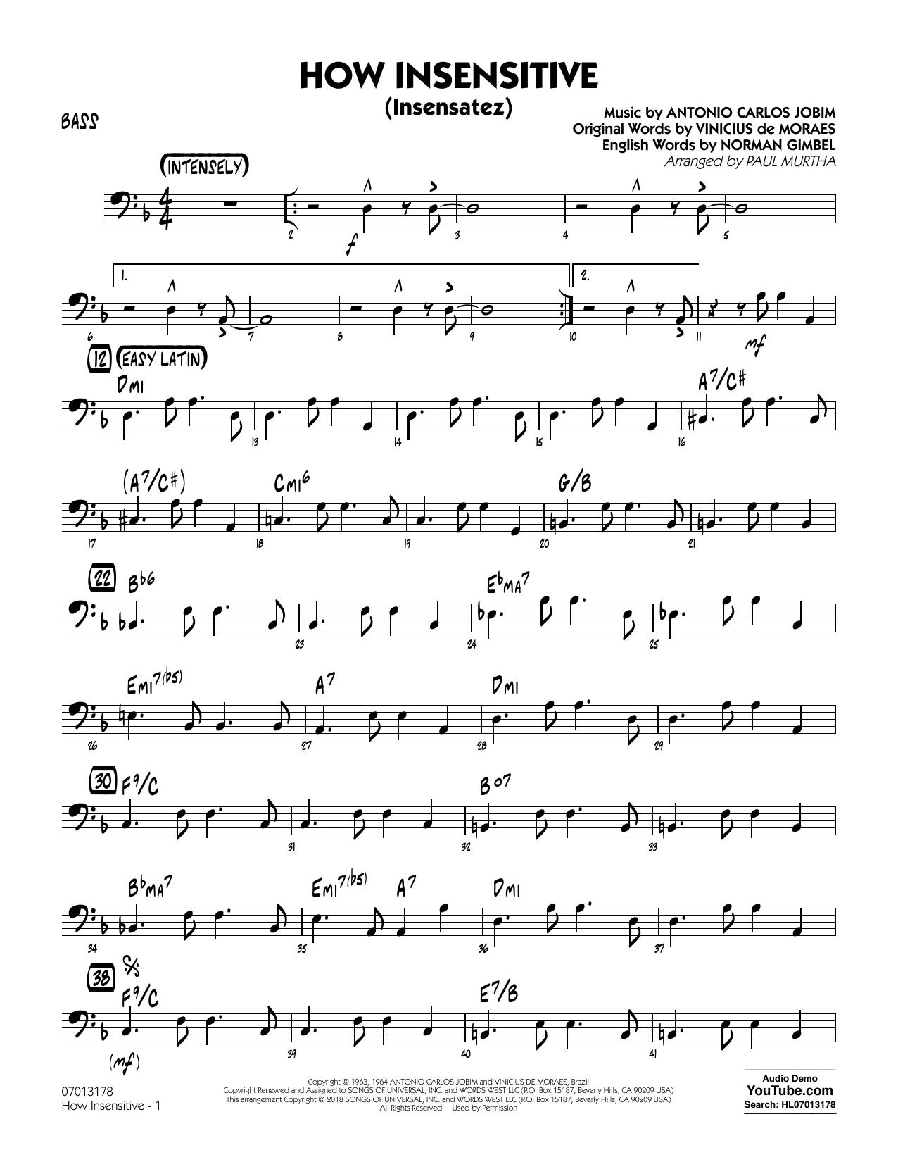 How Insensitive (Insensatez) - Bass (Jazz Ensemble)