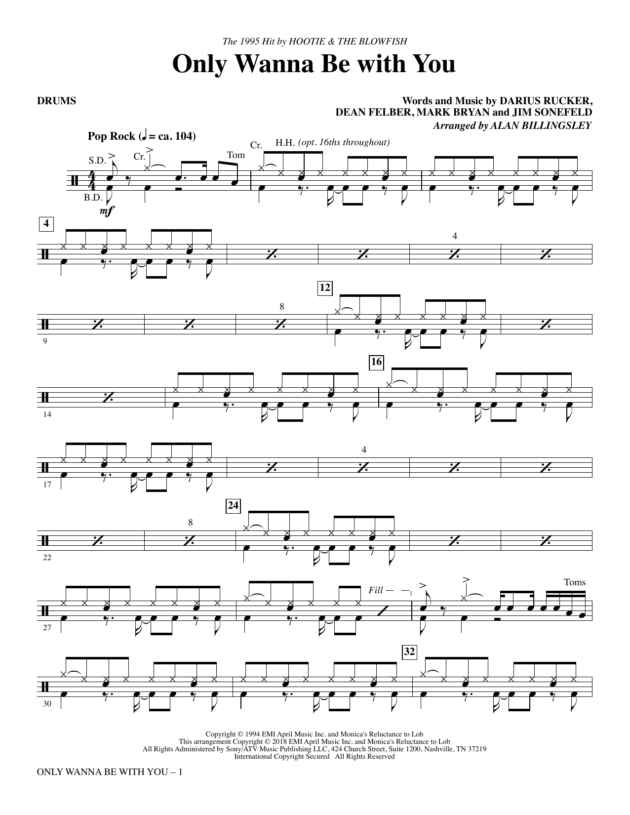 Only Wanna Be with You - Drums (Choir Instrumental Pak)