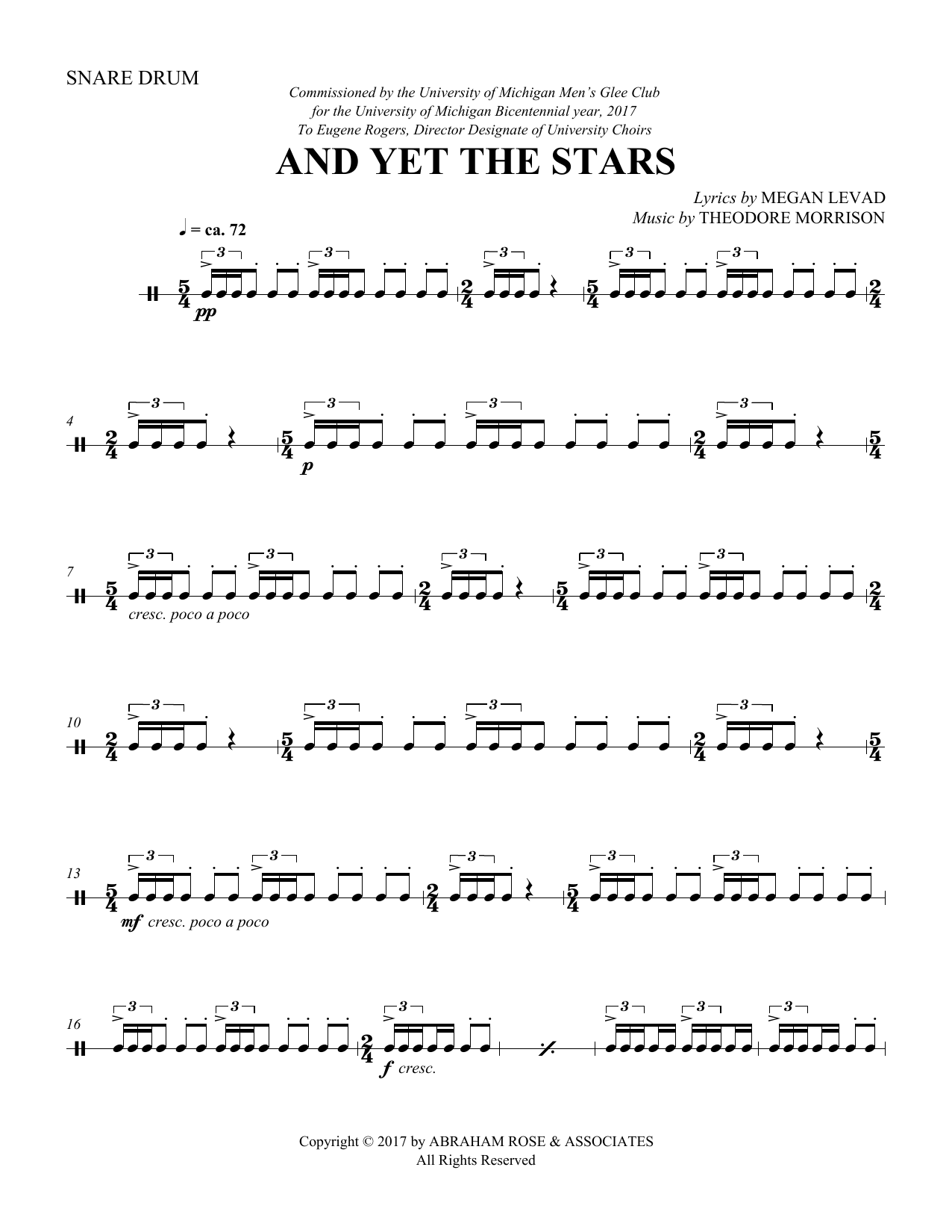 And Yet the Stars - Snare Drum (Choir Instrumental Pak)