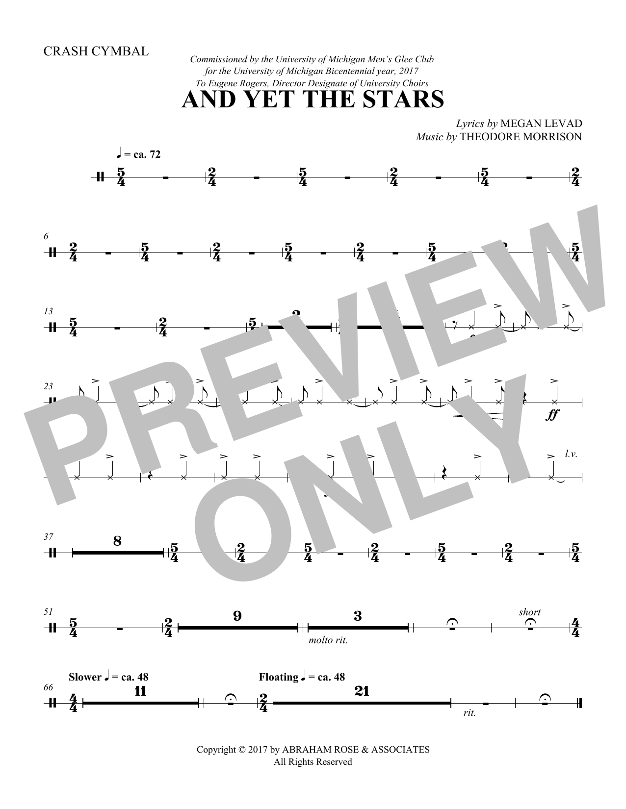 And Yet the Stars - Cymbals (Choir Instrumental Pak)